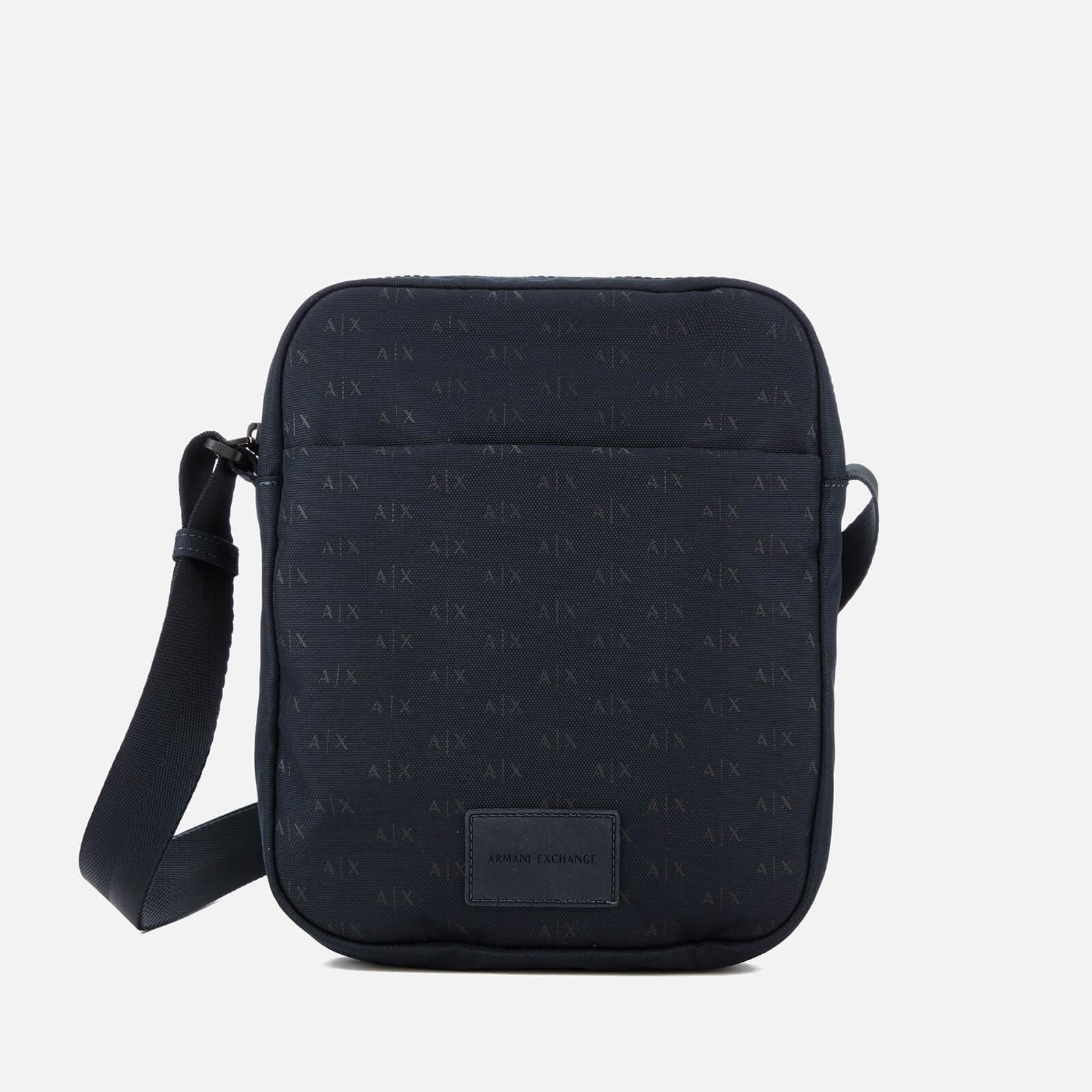 Lyst - Armani Exchange Ax All Over Logo Cross Body Bag in Blue for Men 78fd31aeb9cce