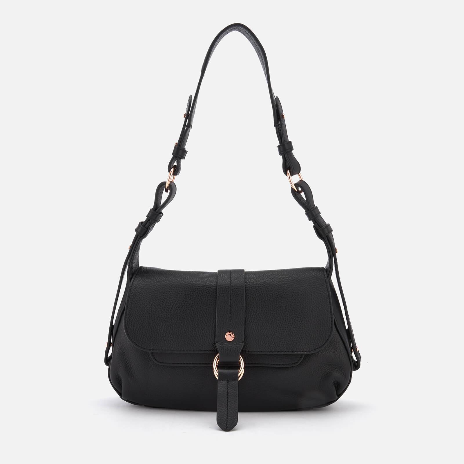 Radley Women S Black Trinity Square Medium Flapover Shoulder Bag