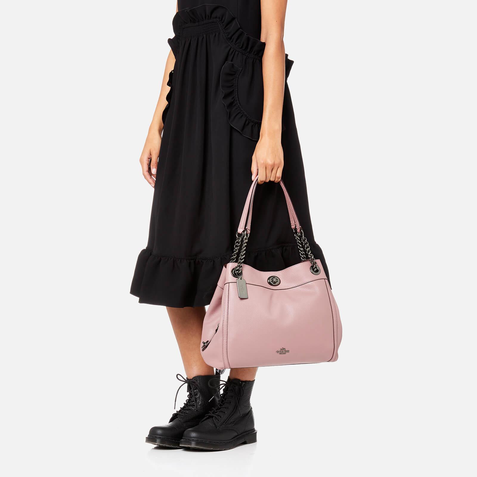 c7e30cc49e9 Lyst - COACH Turnlock Edie Shoulder Bag in Pink