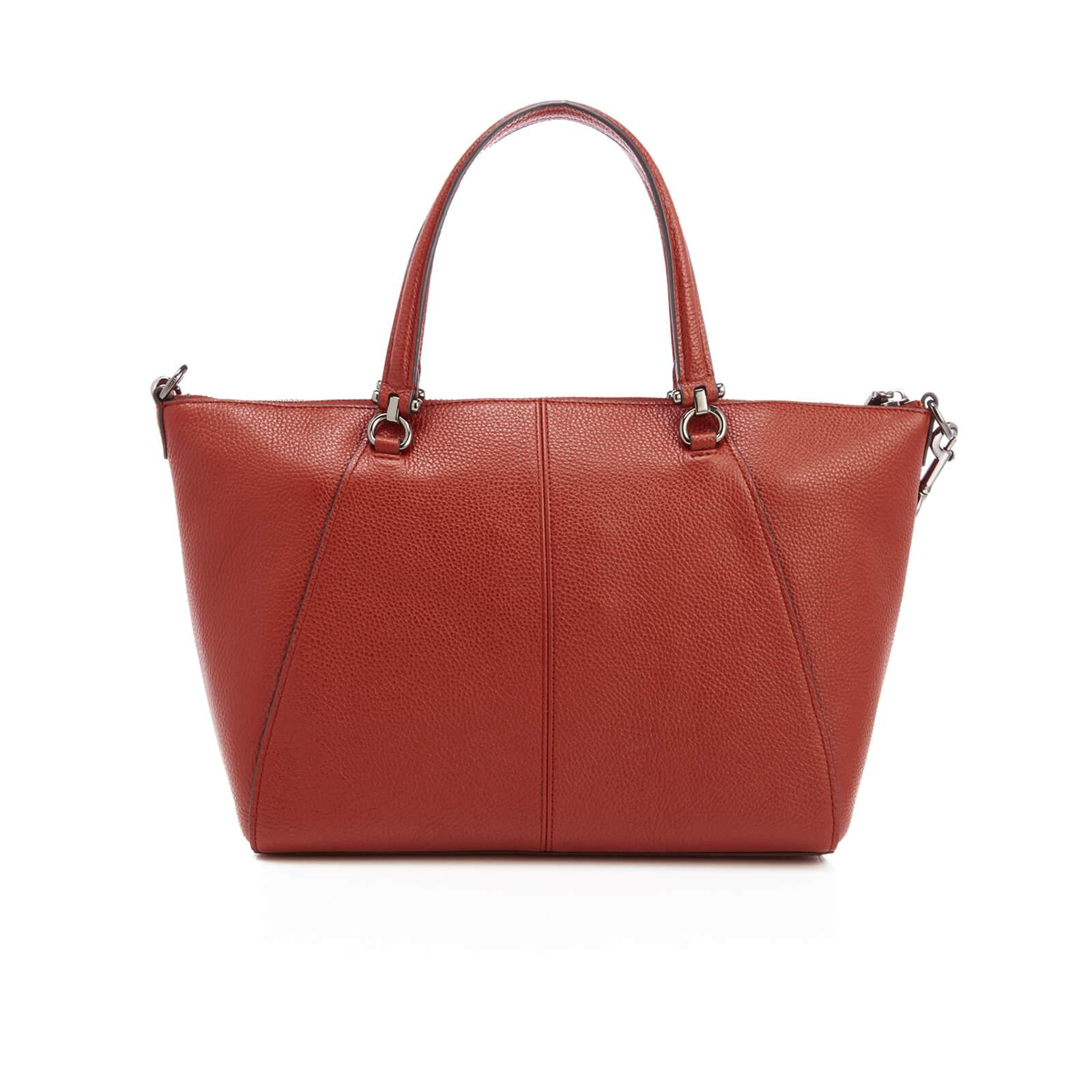 Tote - Polished Pebbled Leather Prairie Satchel Bag Washed Red - red - Tote for ladies Coach 5EfoN