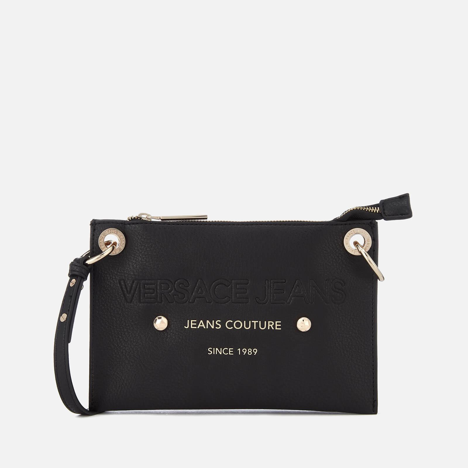 e0a488fd94 Lyst - Versace Jeans Logo Cross Body Bag in Black