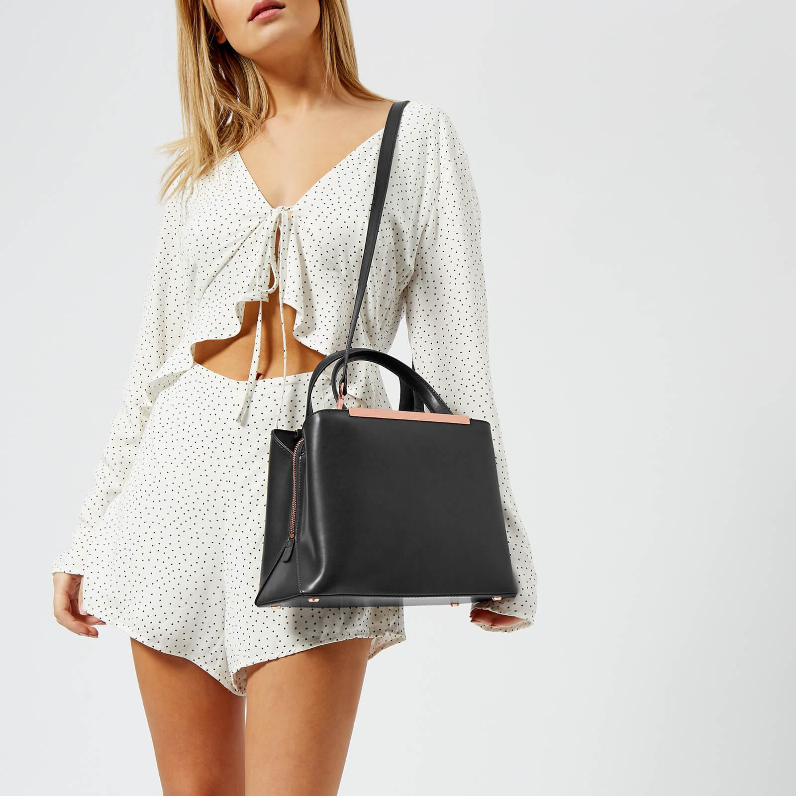 ab3e92d745ca Lyst ted baker naomii smooth leather tote bag in black jpg 1600x1600 Smooth  baker