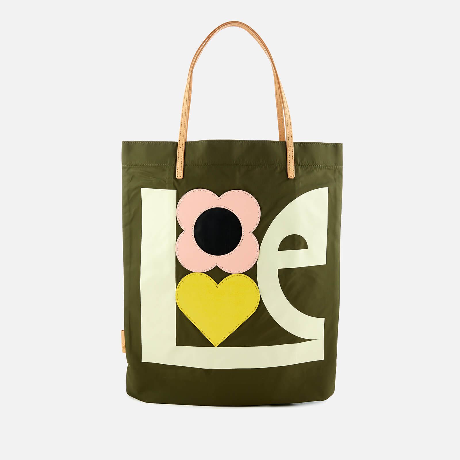 35b23e013ccd Orla Kiely Love Print Applique Nylon Tote Bag in Green - Lyst