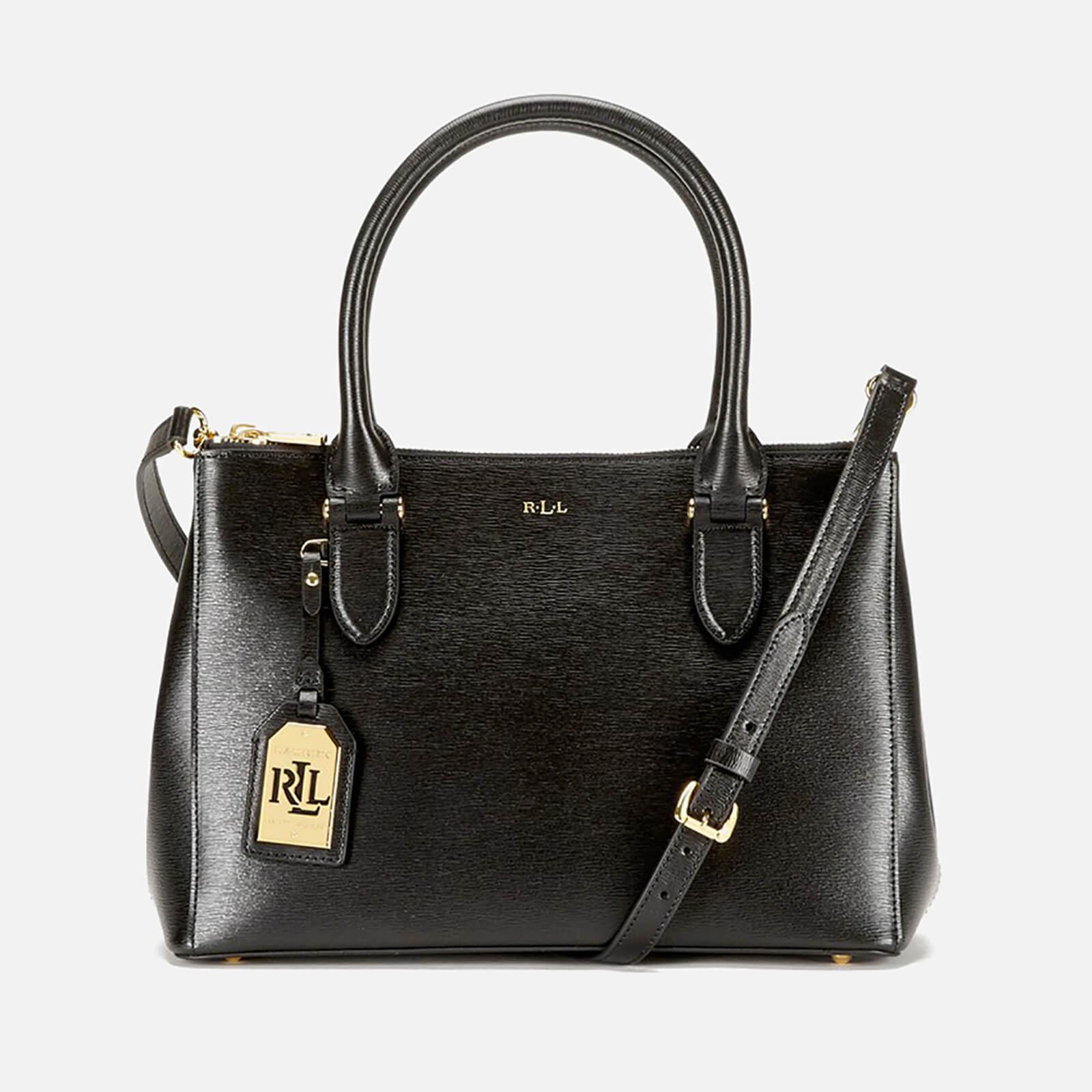 c44cd732d3f Lauren By Ralph Lauren Newbury Double Zipper Shopper Bag in Black - Lyst