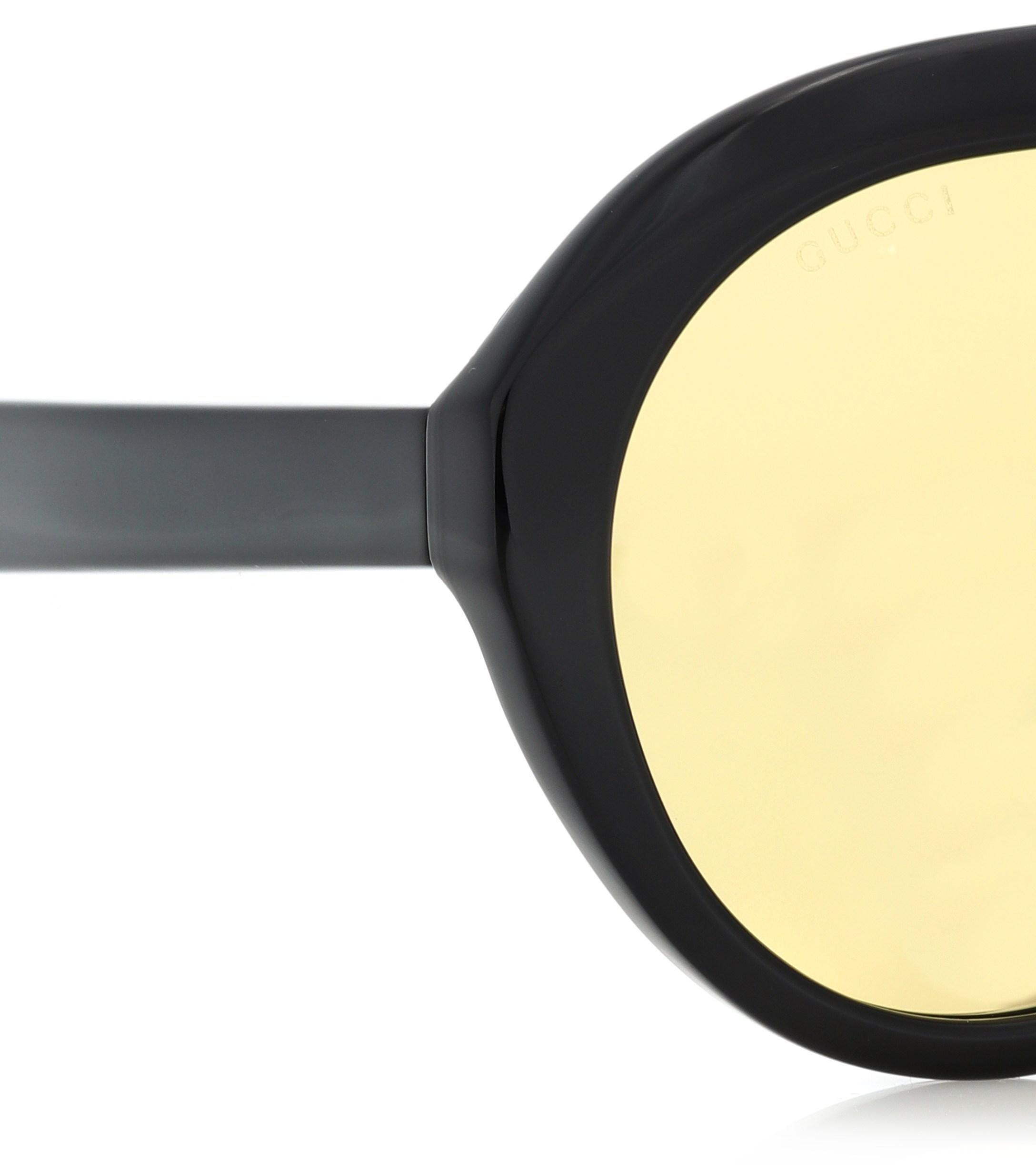 0d2ffe8ded886 Gucci - Black Oversize-Sonnenbrille Navigator - Lyst. Vollbild ansehen
