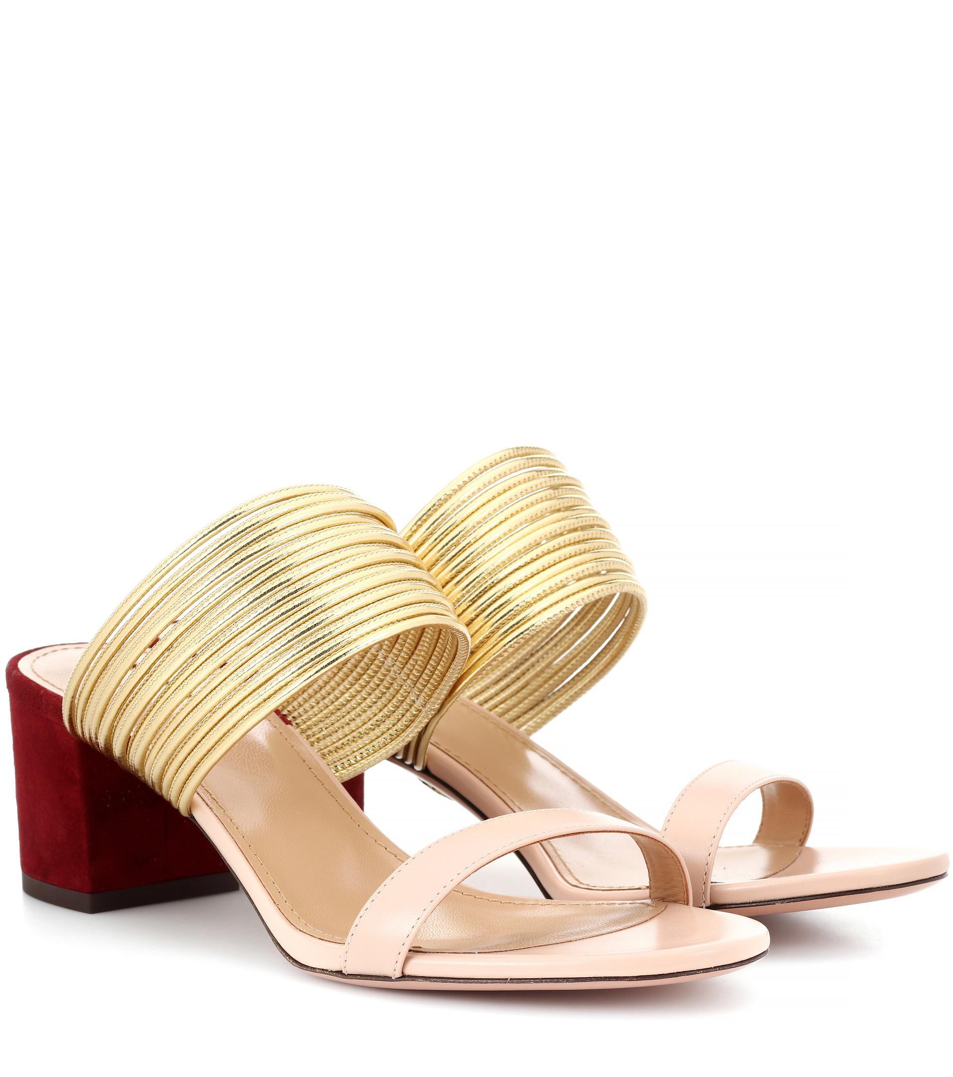 Aquazzura Rendez Vous leather sandals 430mXQh