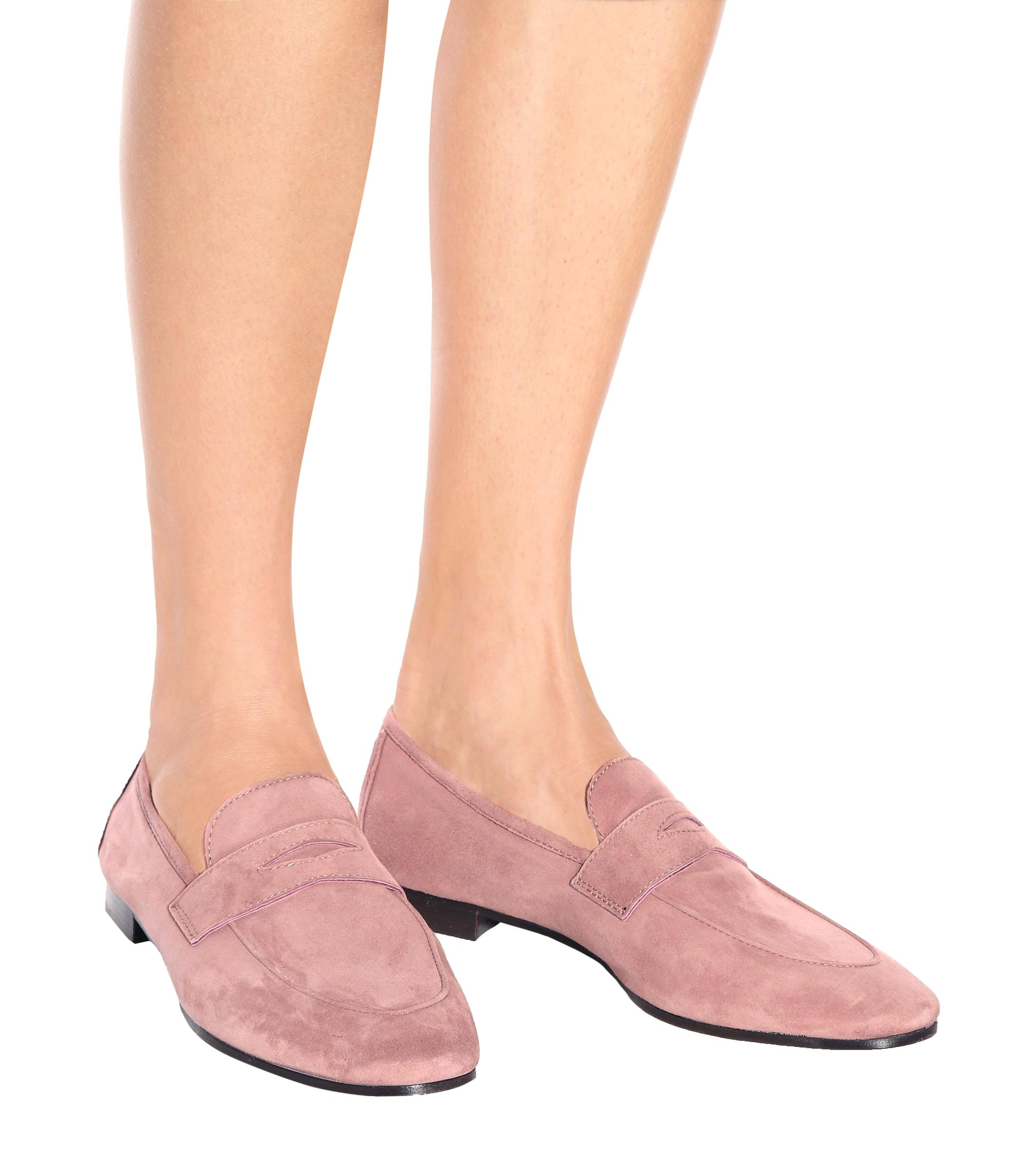 75124613bb5 Bougeotte Exclusive To Mytheresa.com – Suede Loafers in Pink - Lyst