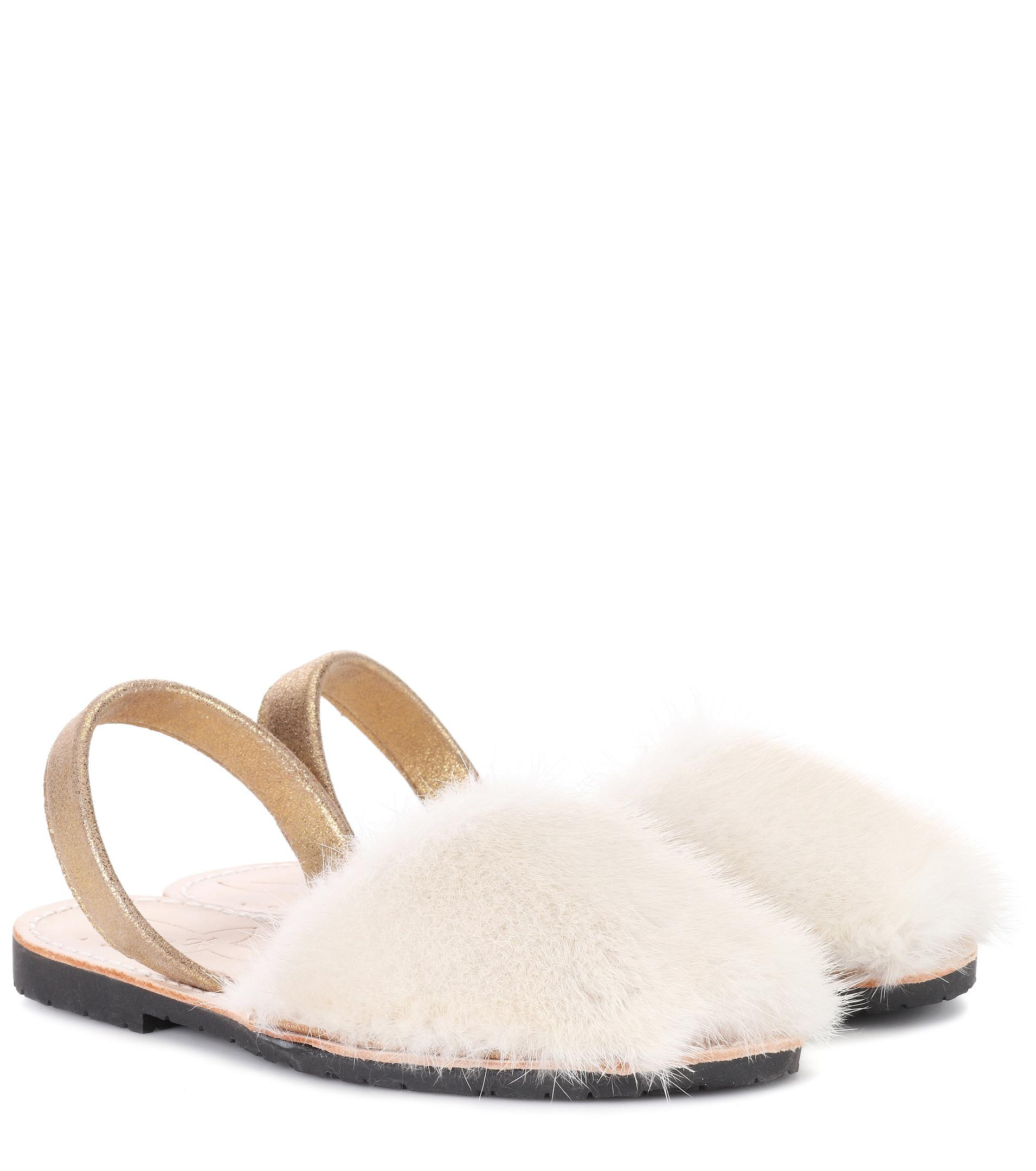 Exclusive to mytheresa.com - Classic fur and suede sandals Del Rio London 7aziCYw8e