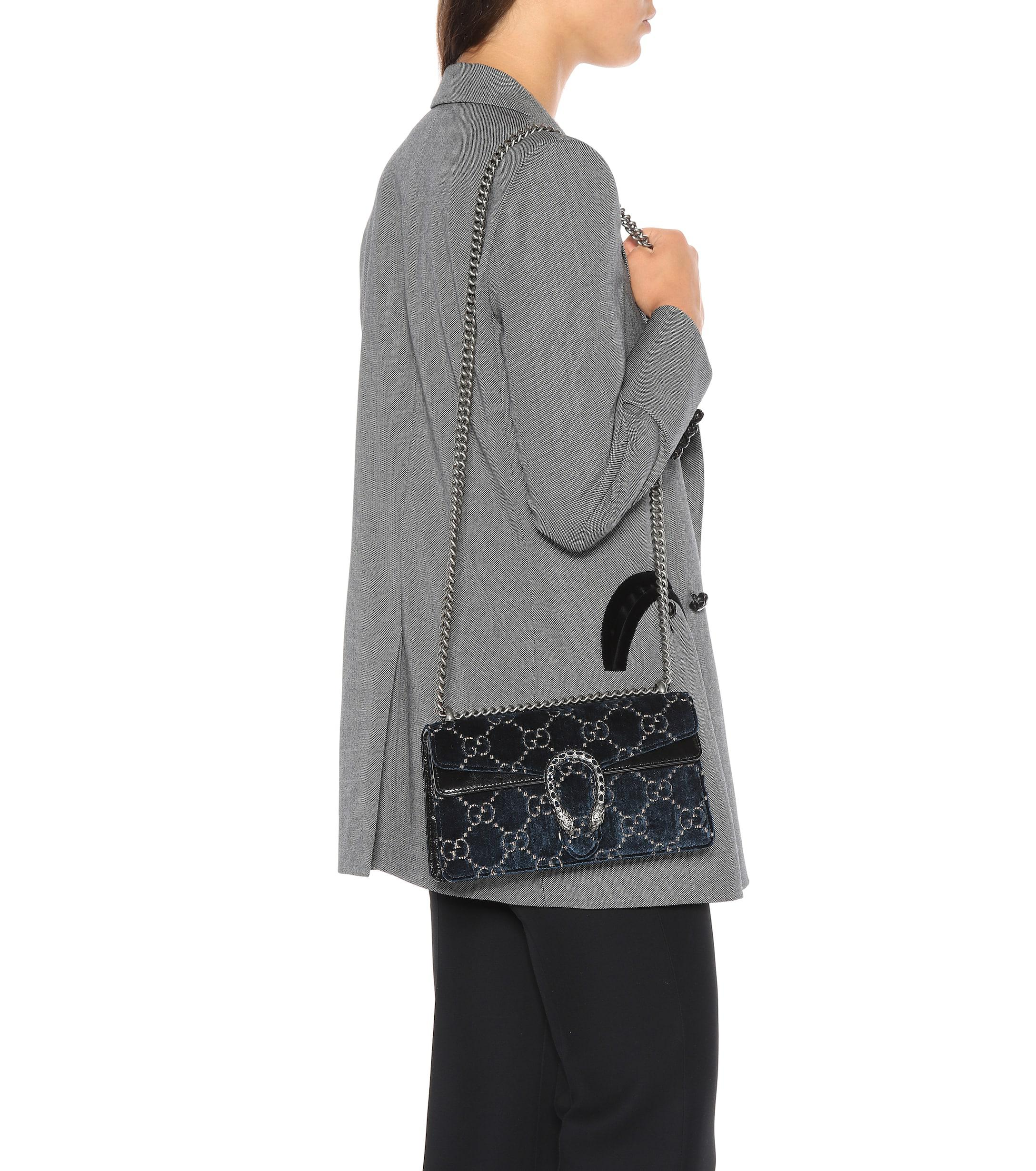 d575b5394c5d Gucci - Multicolor Dionysus GG Small Velvet Shoulder Bag - Lyst. View  fullscreen