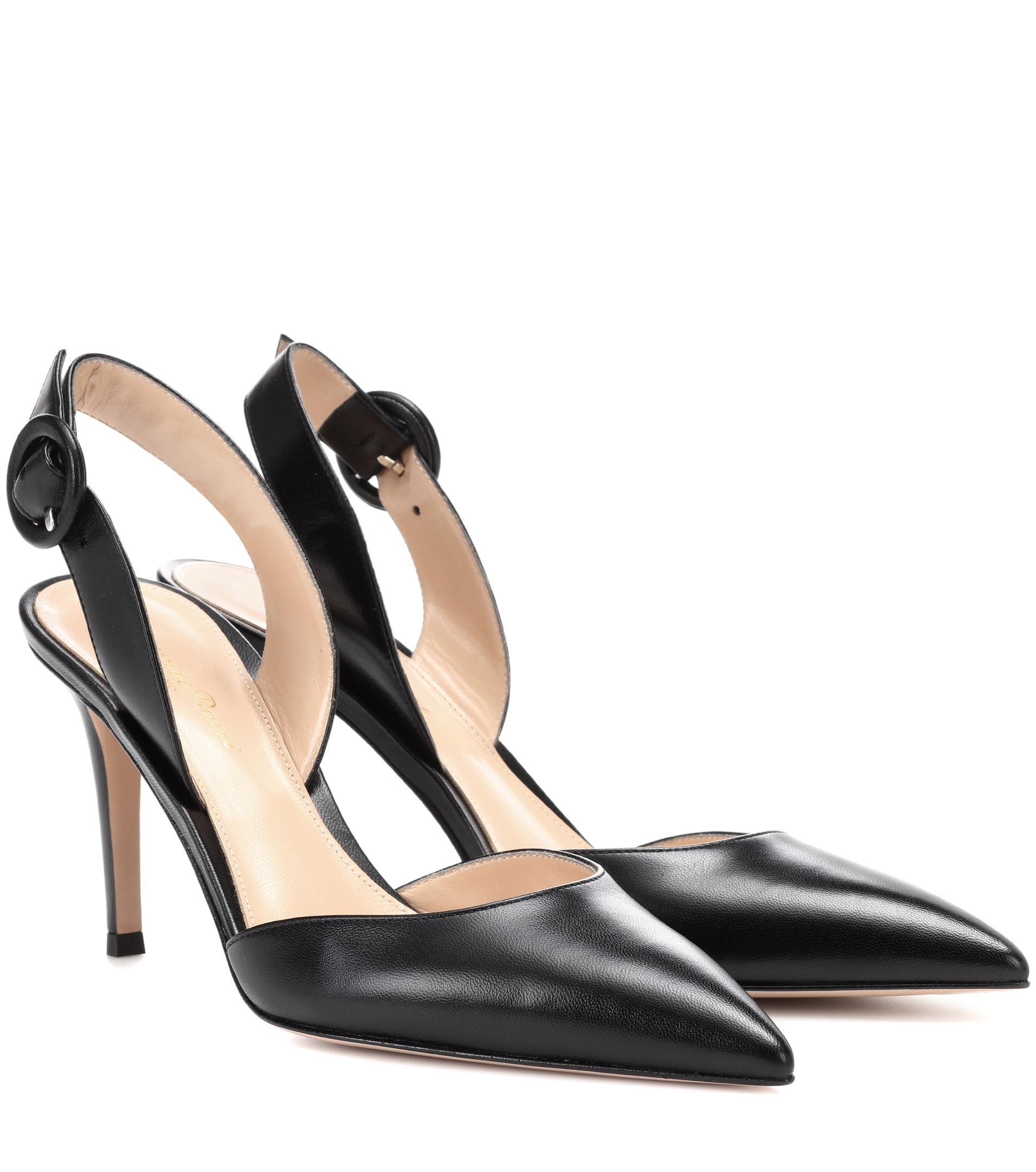Exclusive to mytheresa.com - Patent leather slingback pumps Gianvito Rossi Buy Cheap Genuine Discount Big Discount VeWL0ccreB