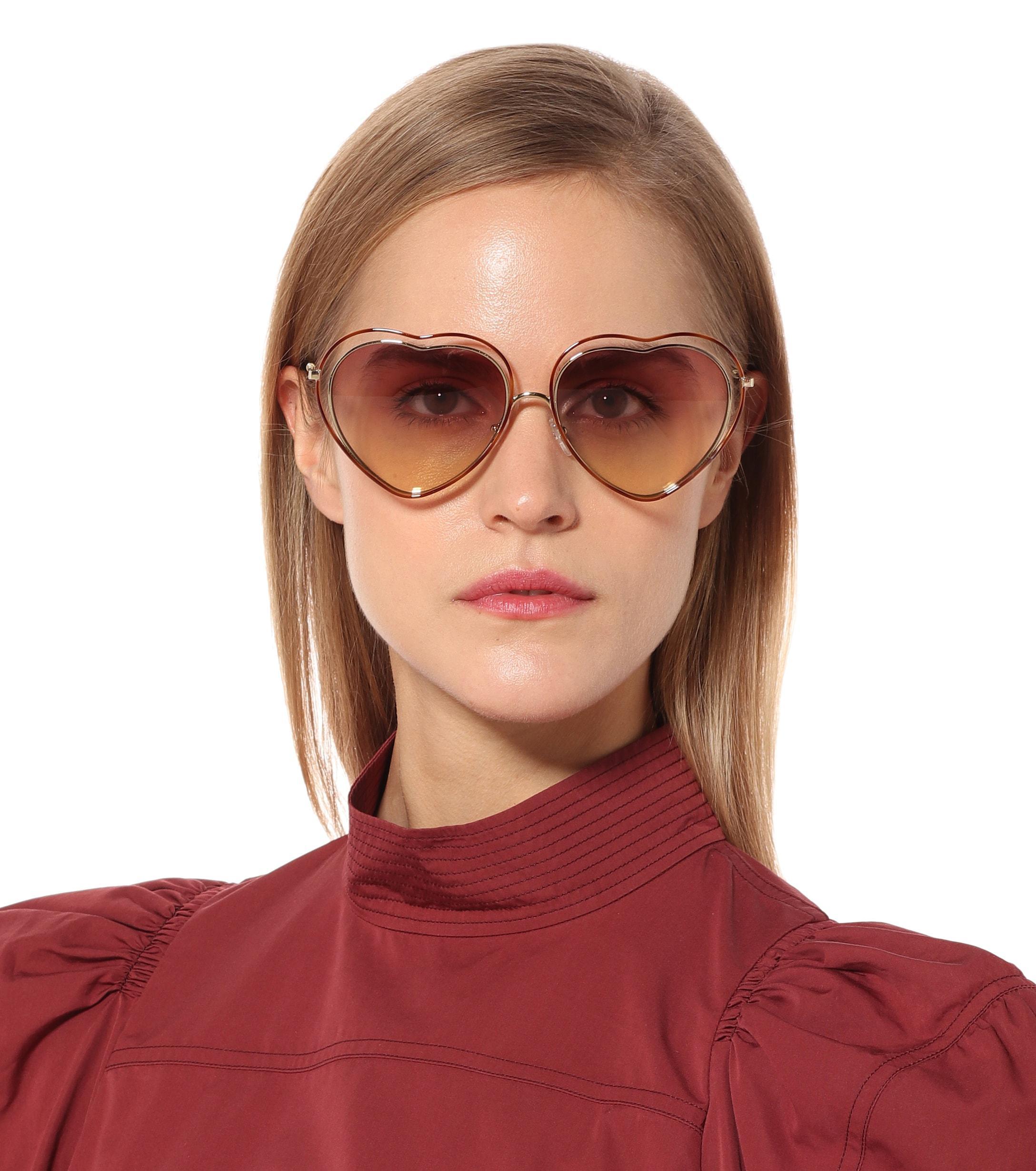 92e220ec04 ... Poppy Heart-shaped Sunglasses - Lyst. View fullscreen