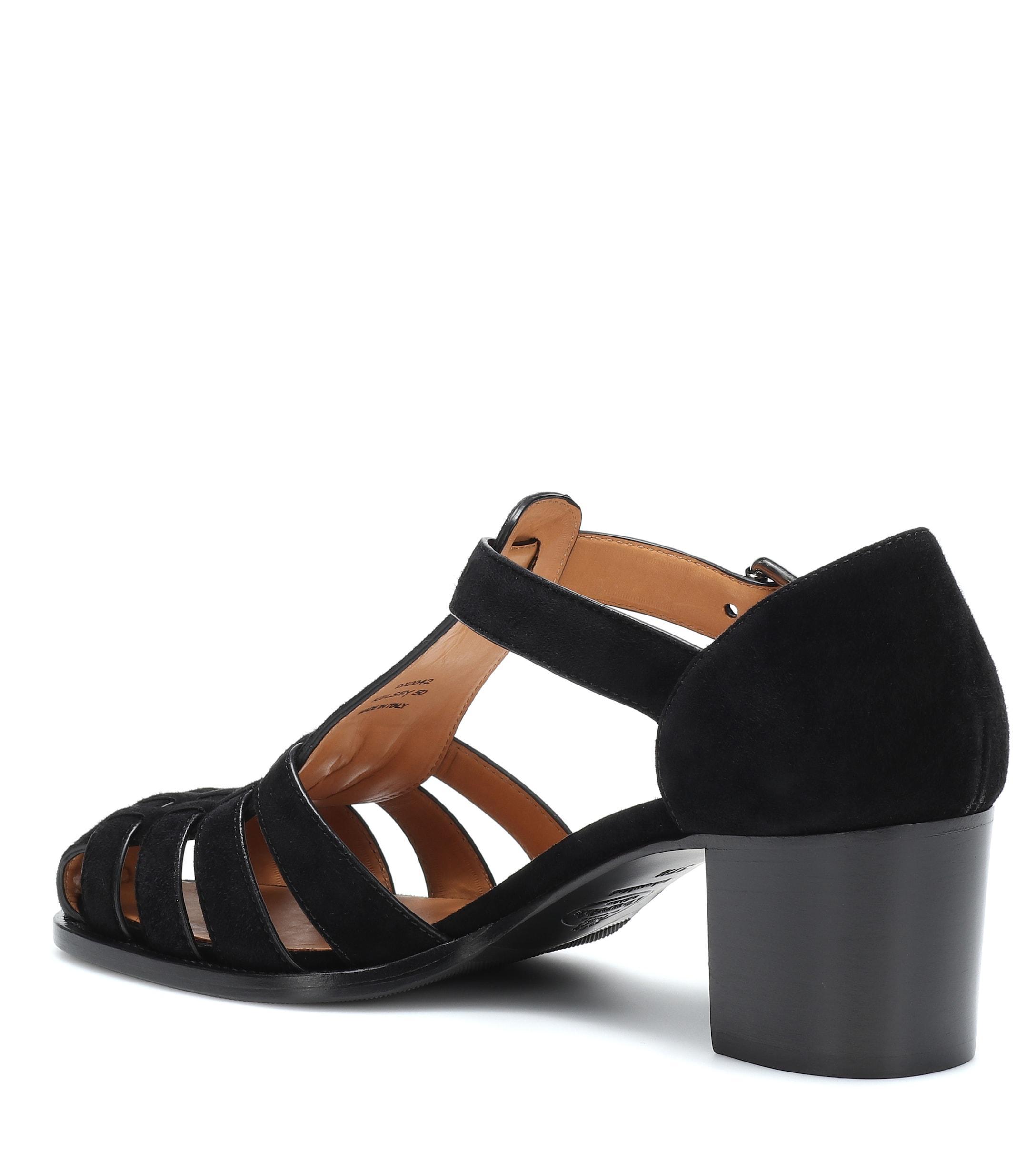 4a357fda94fe Church s - Black Kelsey Suede Sandals - Lyst. View fullscreen