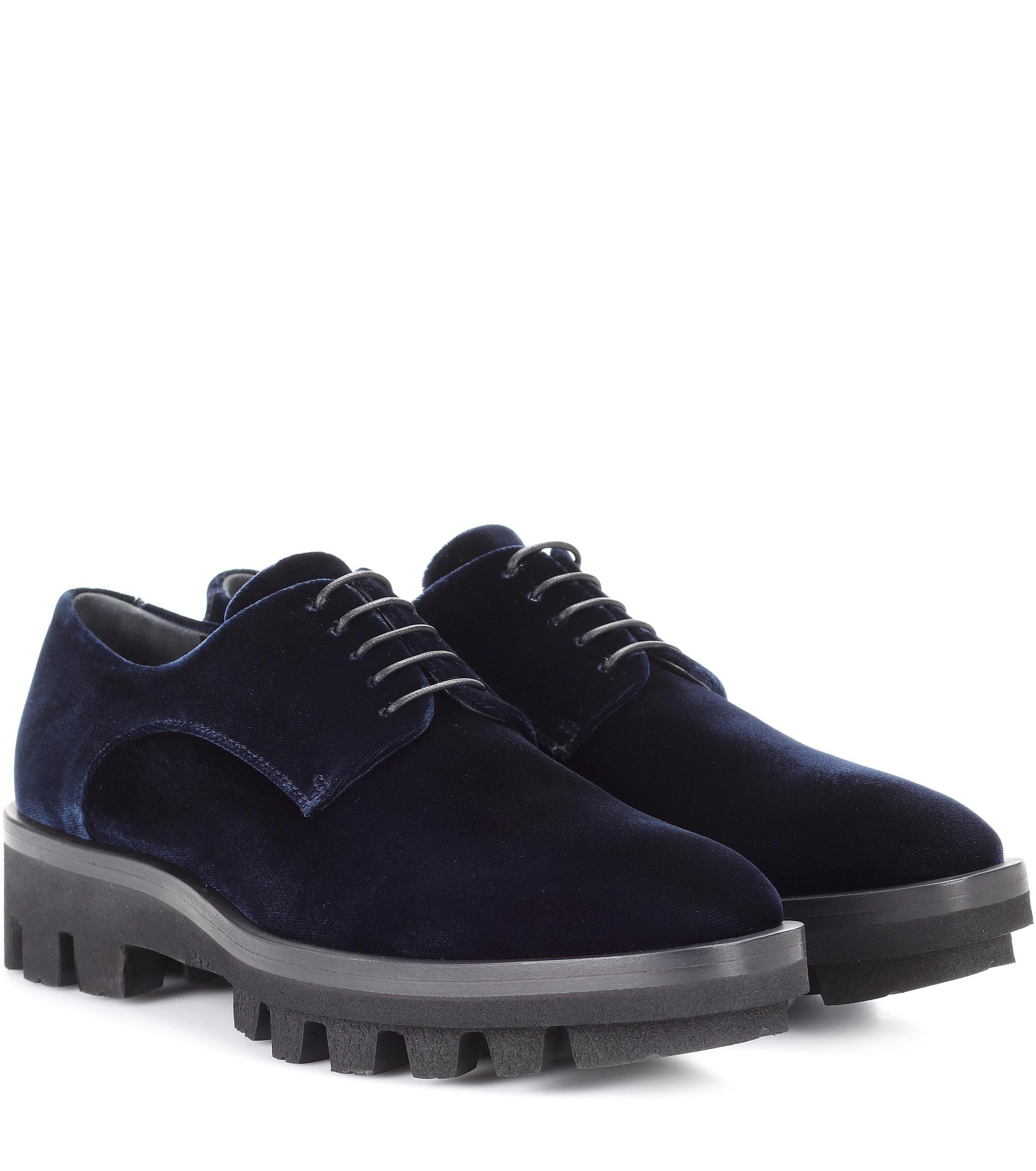 Velvet Derby shoes Jil Sander U8TW64d