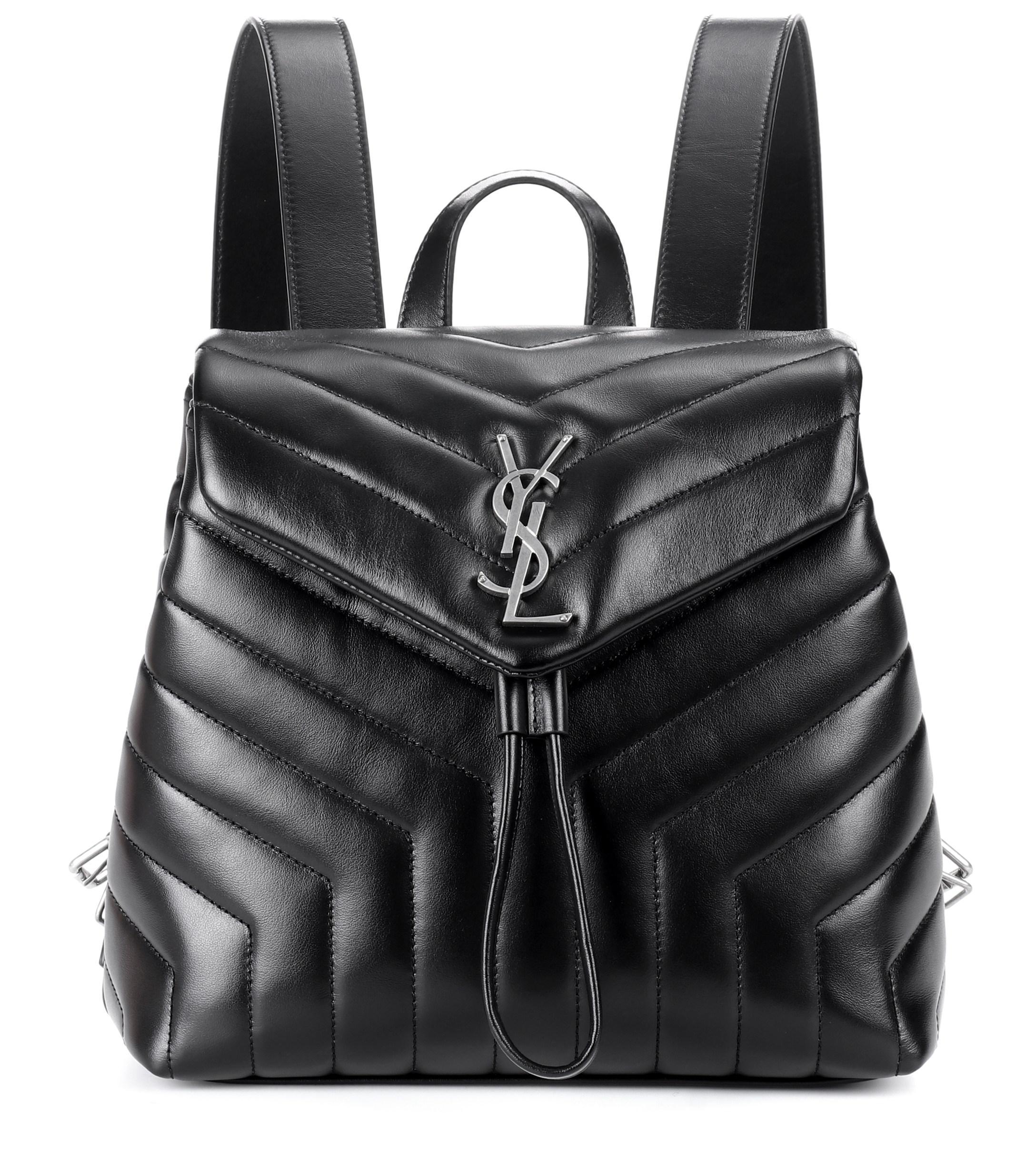 9c7a42d4ec63 Lyst - Saint Laurent Small Loulou Monogram Backpack in Black