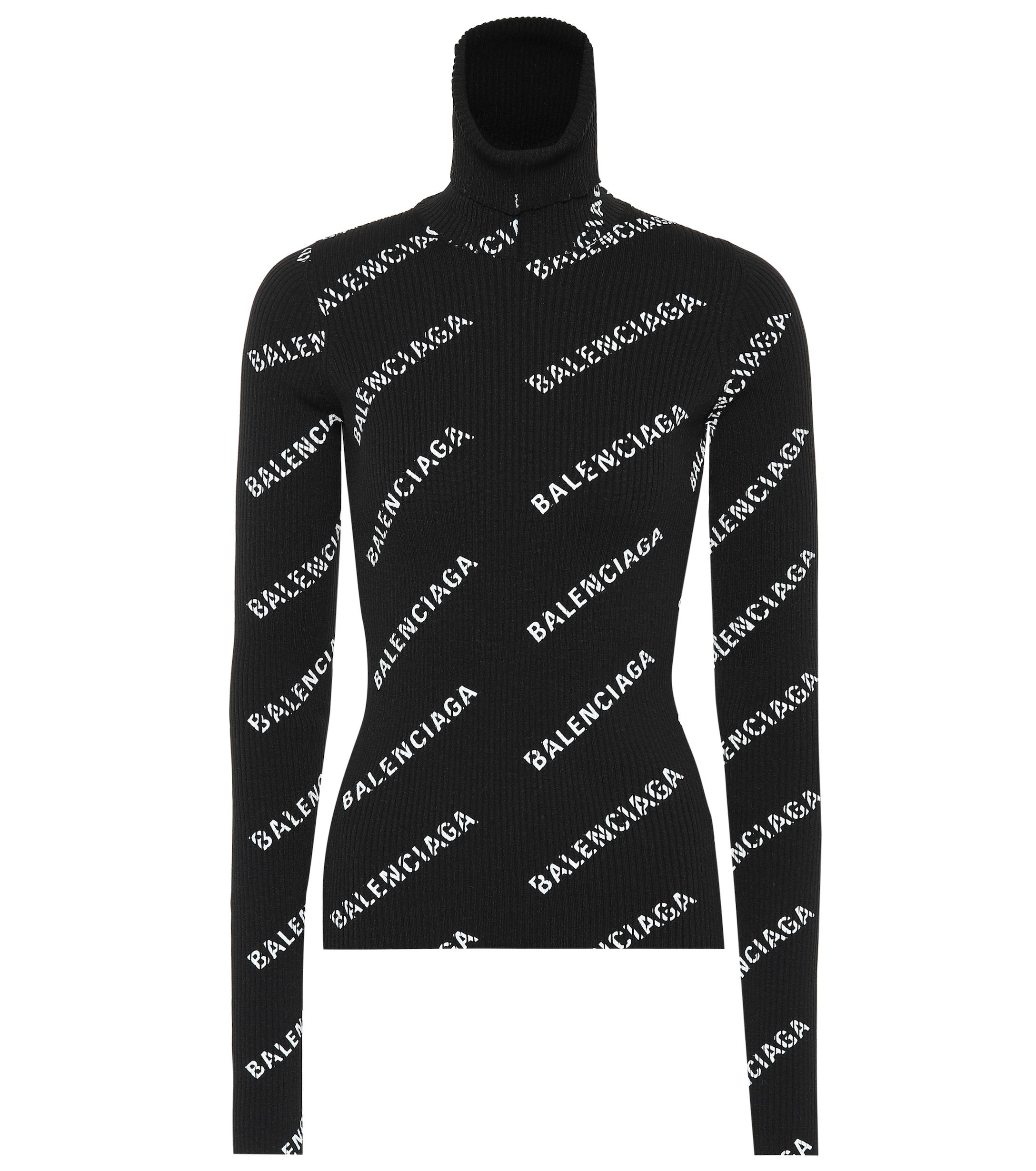 Balenciaga Logo-printed Sweater in Black - Lyst 84010e086