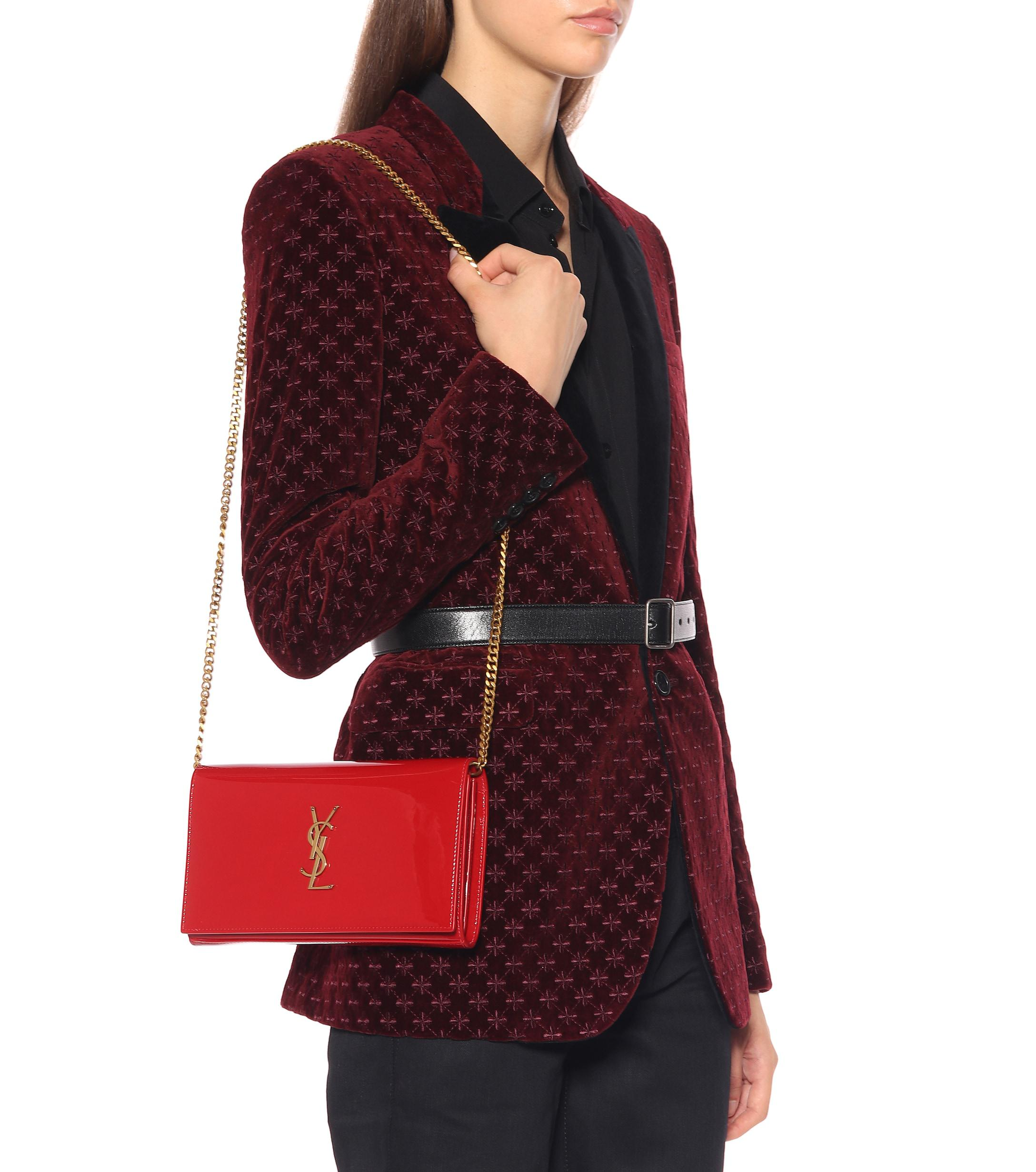e67b0cf2ef Saint Laurent - Red Kate Wallet Leather Shoulder Bag - Lyst. View fullscreen
