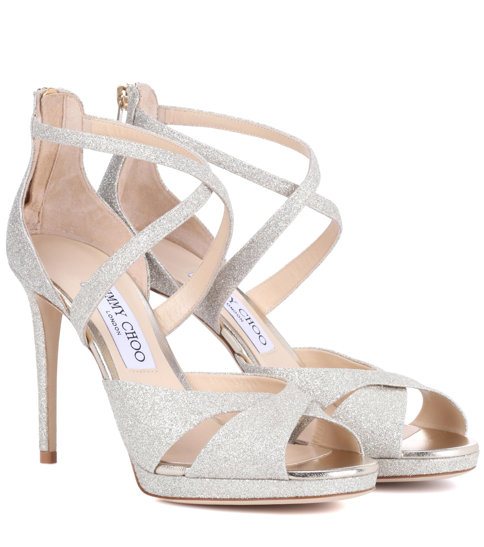 Lorina 100 glitter sandals - Metallic Jimmy Choo London 8rypmZRlKU