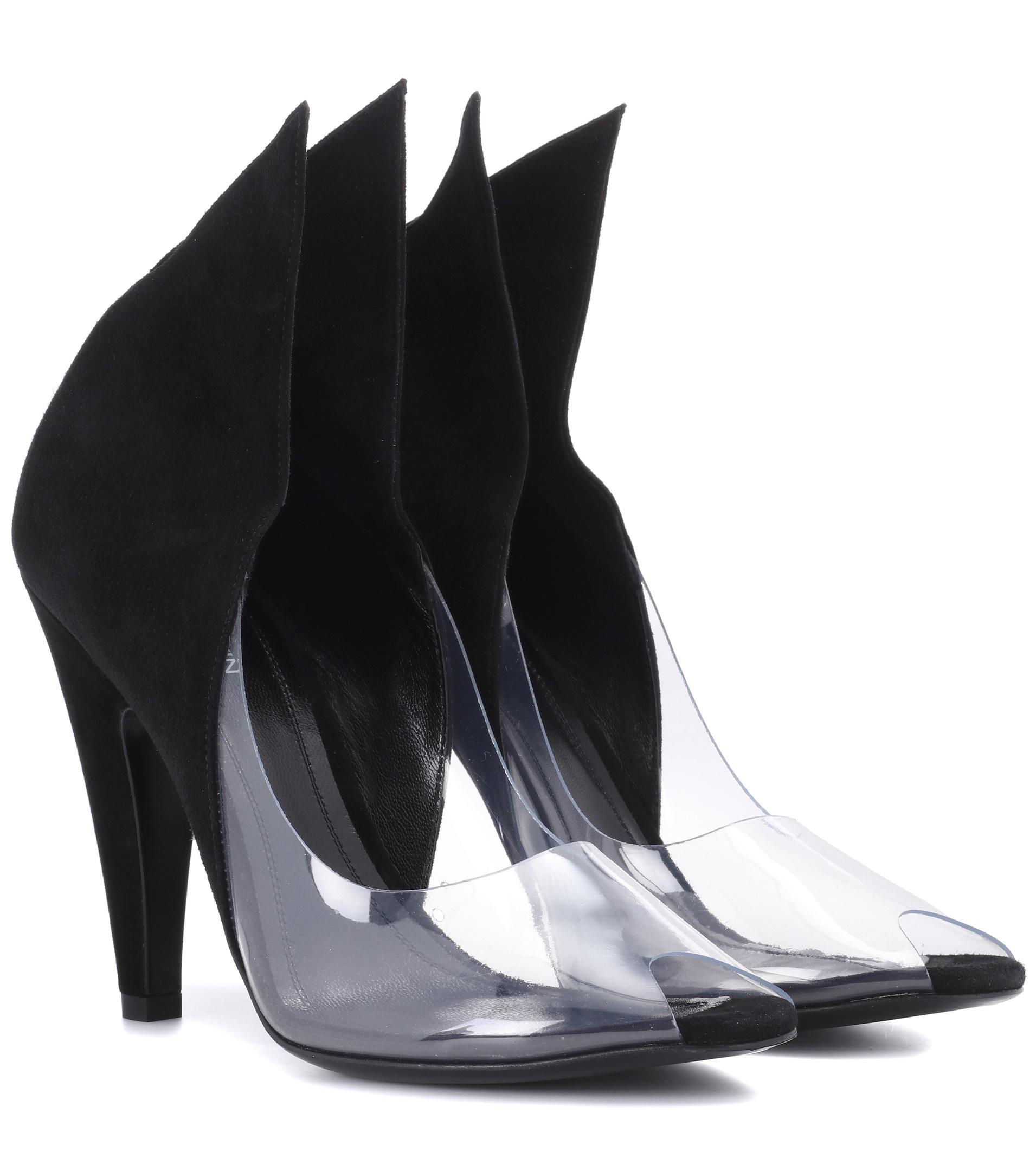 4a62902d98b0 Calvin Klein 205W39Nyc Kahlo Suede Peep-toe Pumps in Black - Lyst