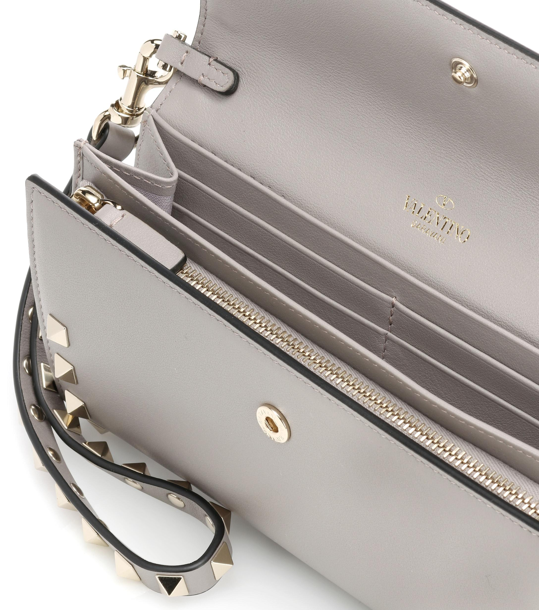 3ed1d4497ba valentino-pastel-grey-Rockstud-Leather-Wallet.jpeg