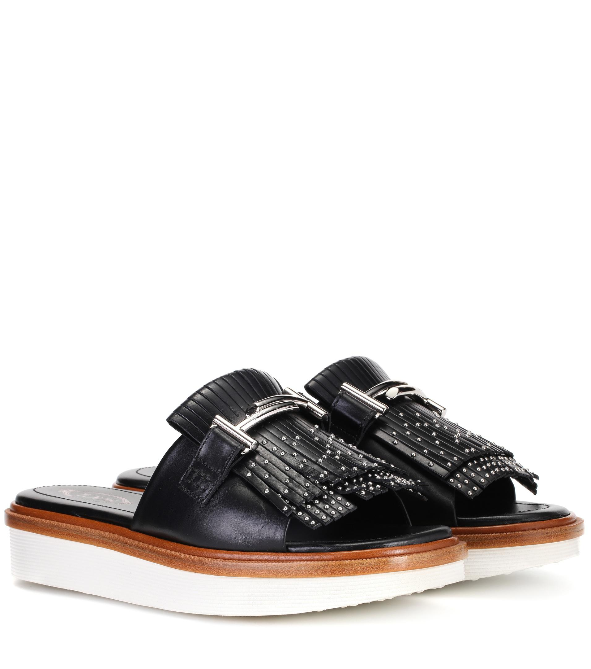 Tod's Double T leather slides nsV11a83