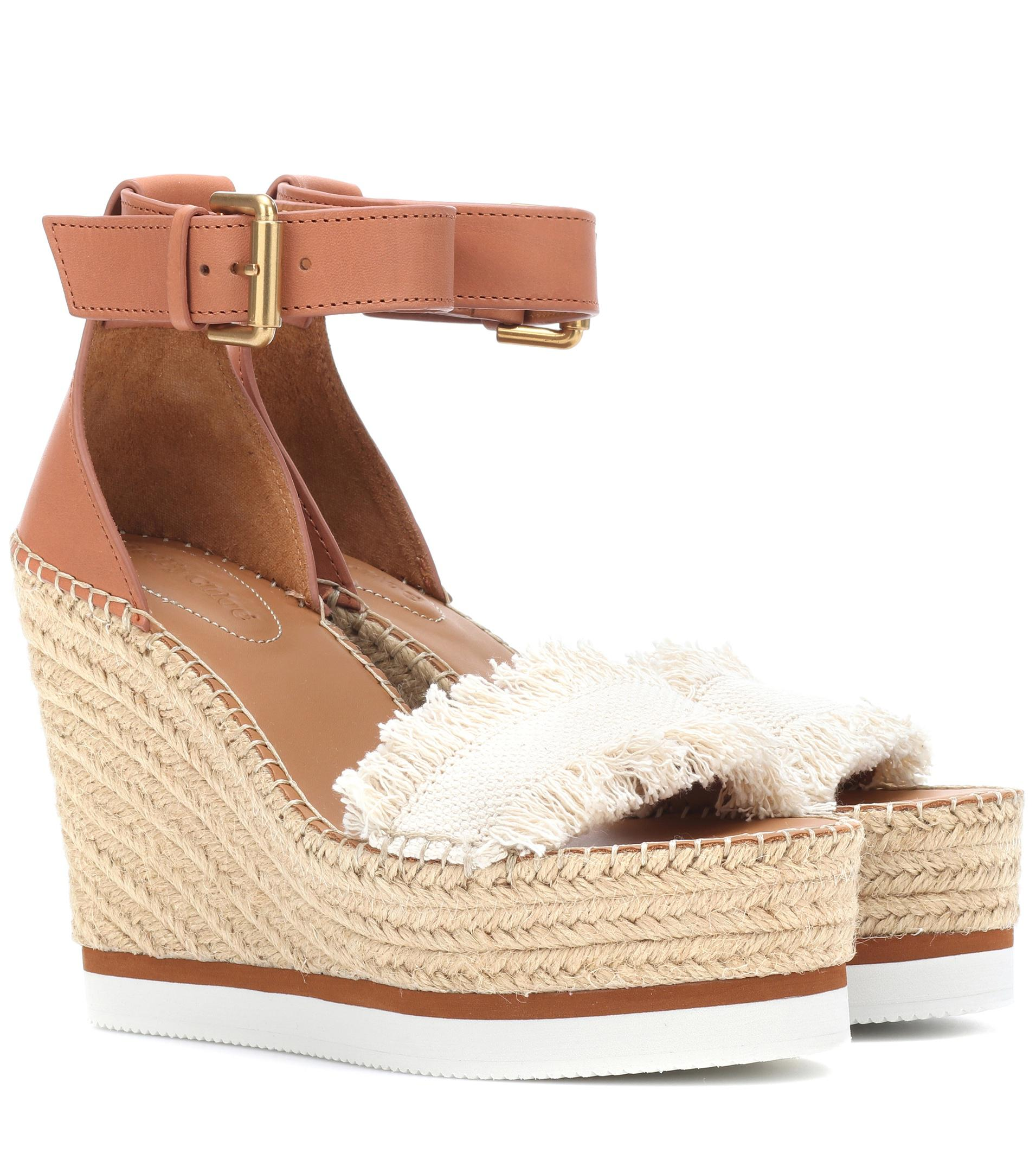 Buy Cheap Discounts Best Wholesale Online Leather and canvas wedge sandals See By Chloé Cheap Sale Footlocker DOdtjAN