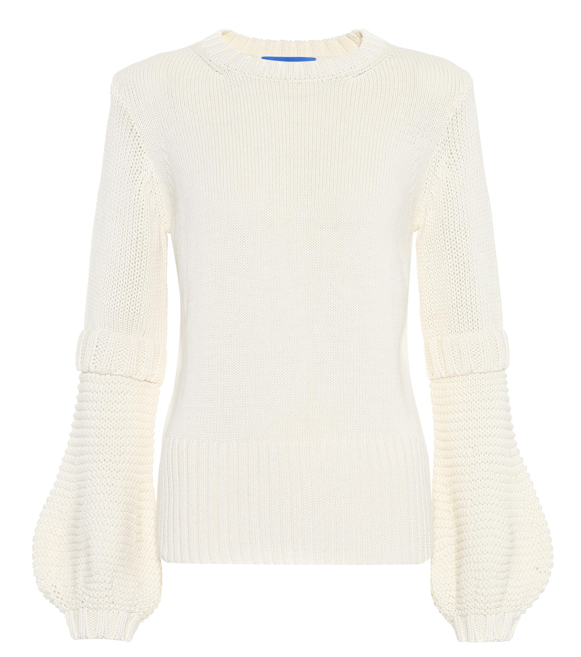 Mih jeans Leeson Cotton Sweater in White | Lyst