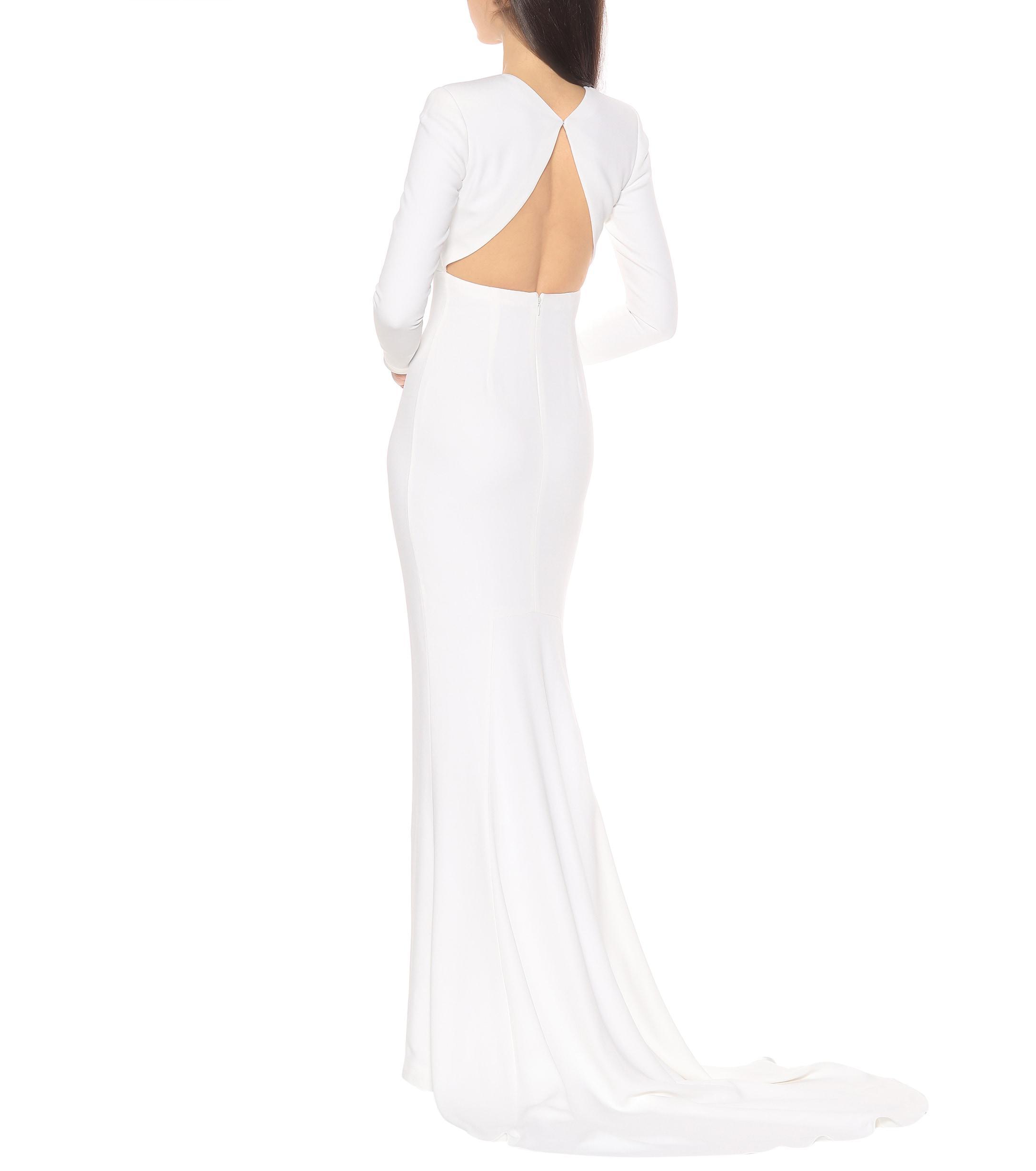 725f196b702 Stella McCartney - White Ruby Stretch Cady Gown - Lyst. View fullscreen