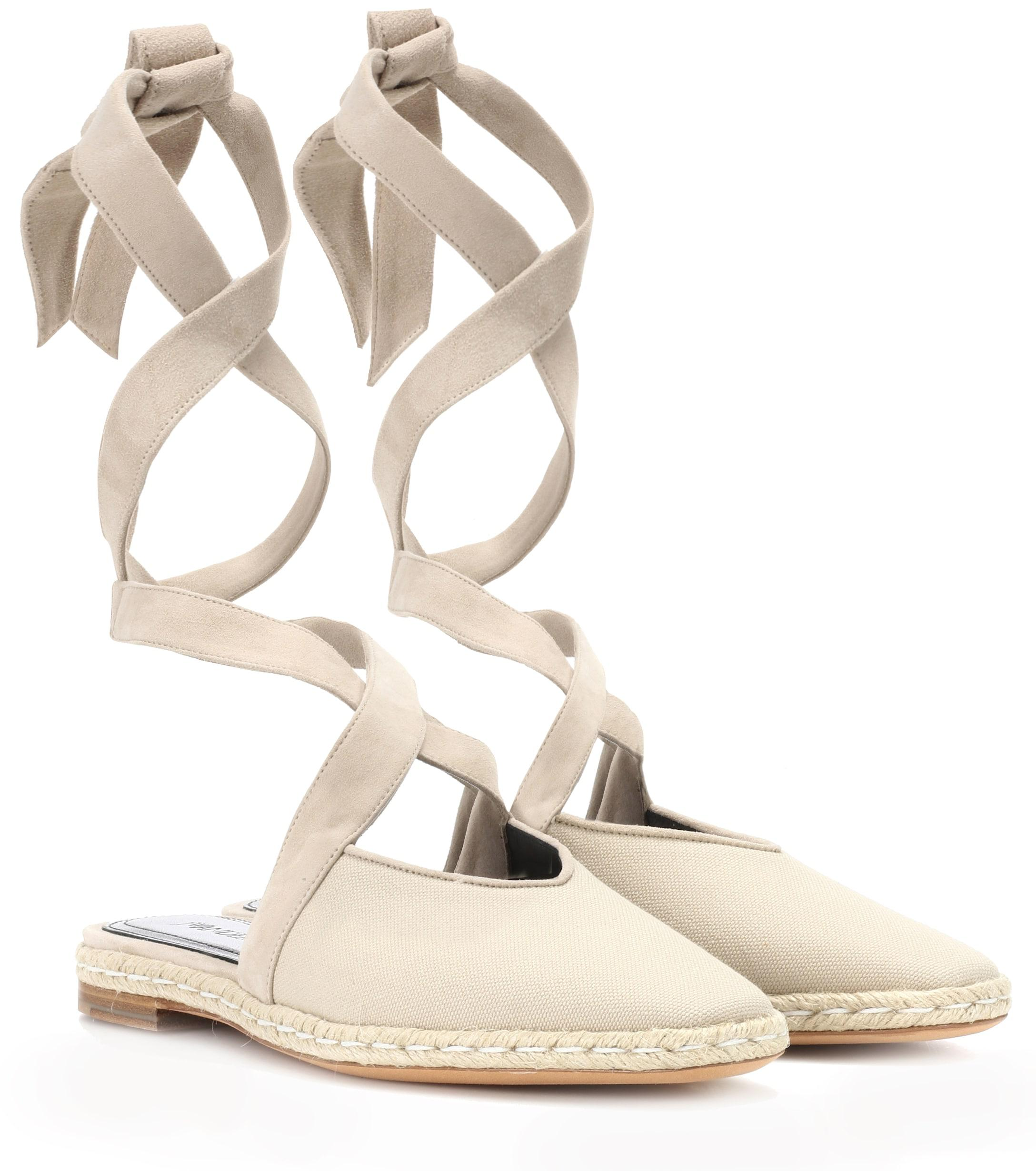 44b79b8ab Lyst - JW Anderson Canvas Lace-up Sandals