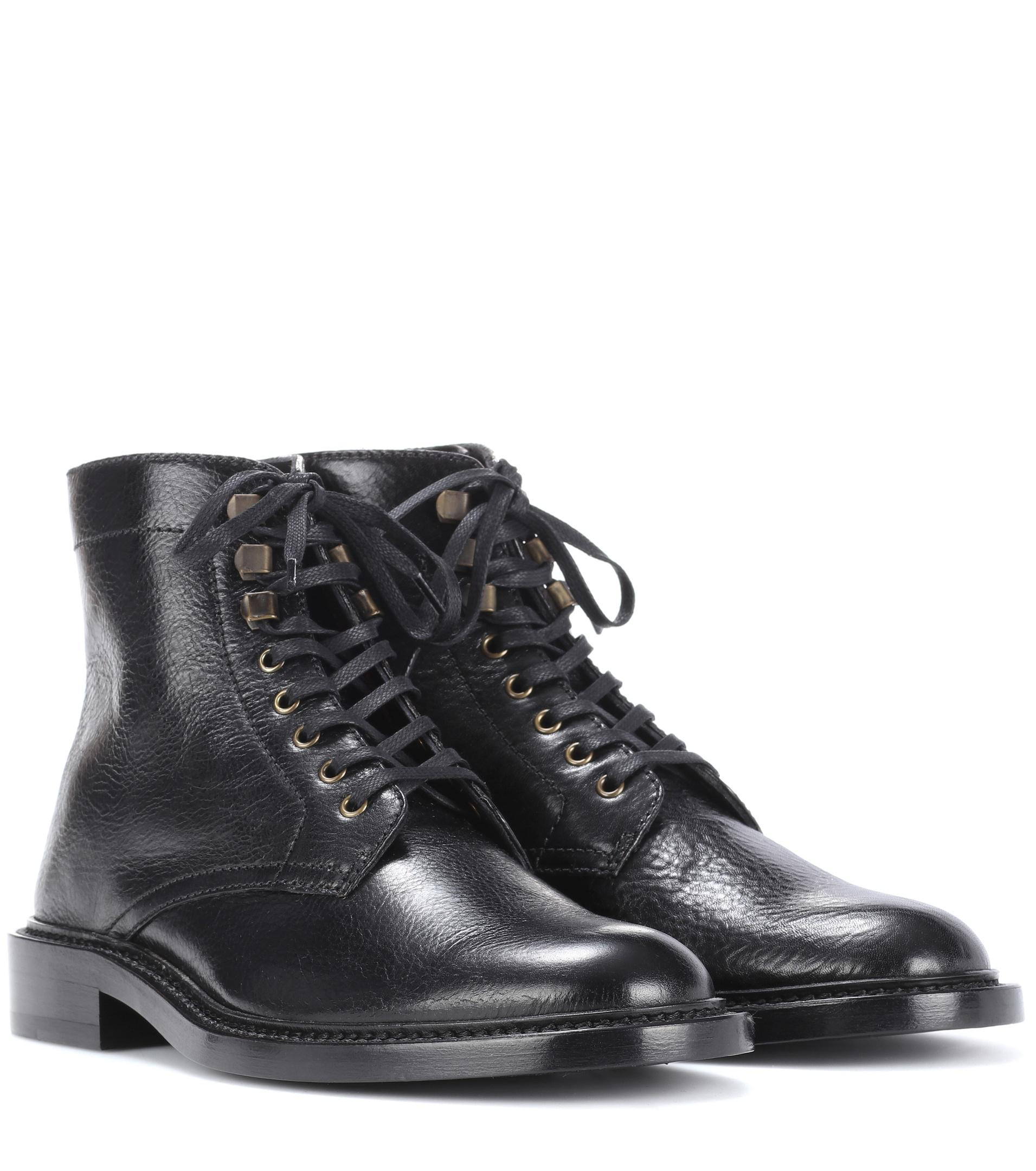prices Saint Laurent Army 25 leather ankle boots outlet geniue stockist buy cheap pay with paypal clearance professional order cheap online i3CP8p