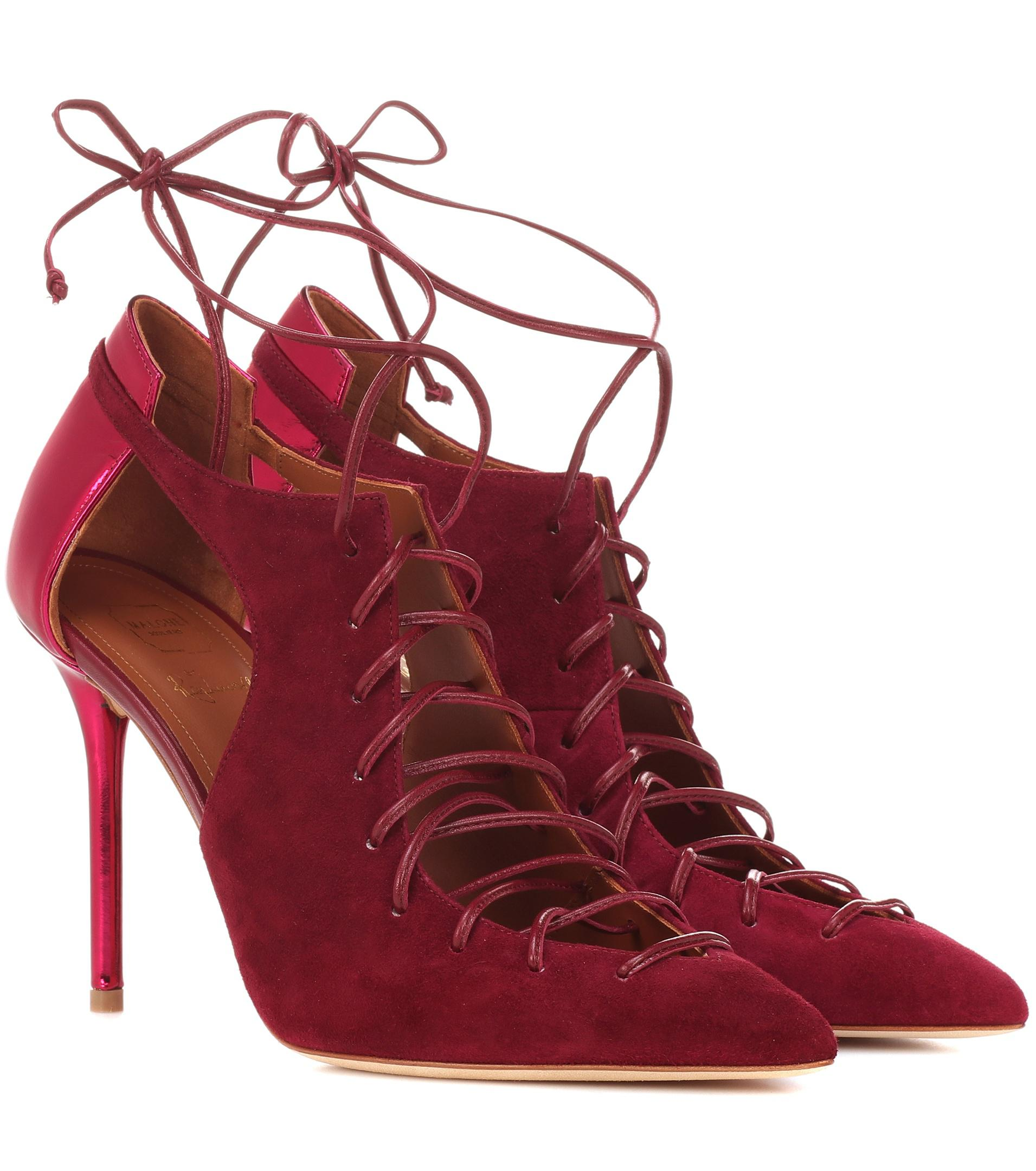 fdb224aa50e0a2 Lyst - Malone Souliers Ankle Boots Montana 100 aus Leder in Rot