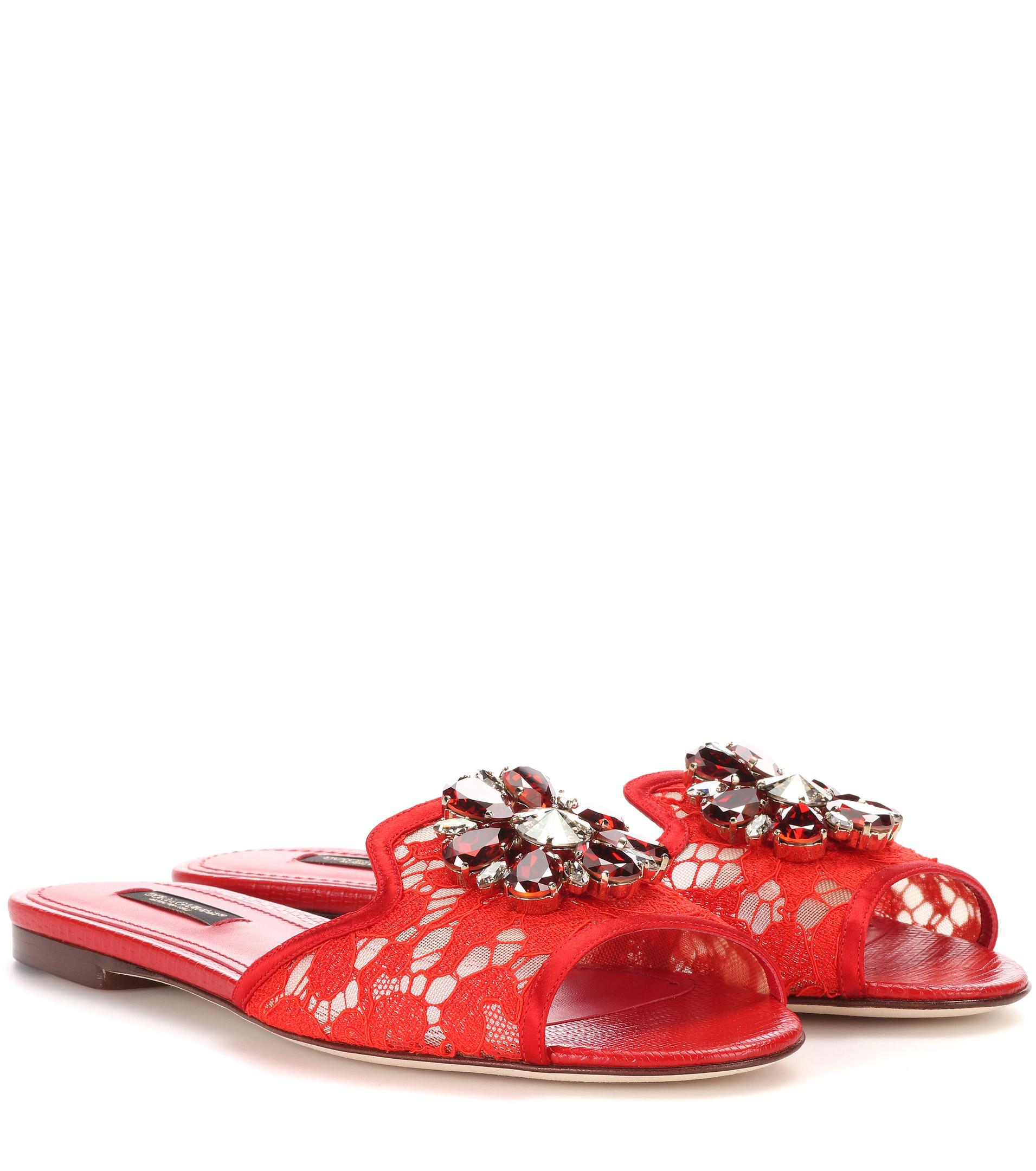 Dolce & Gabbana Bianca Embellished Slide Sandals 2014 new online sale affordable oly3Y4XO2a