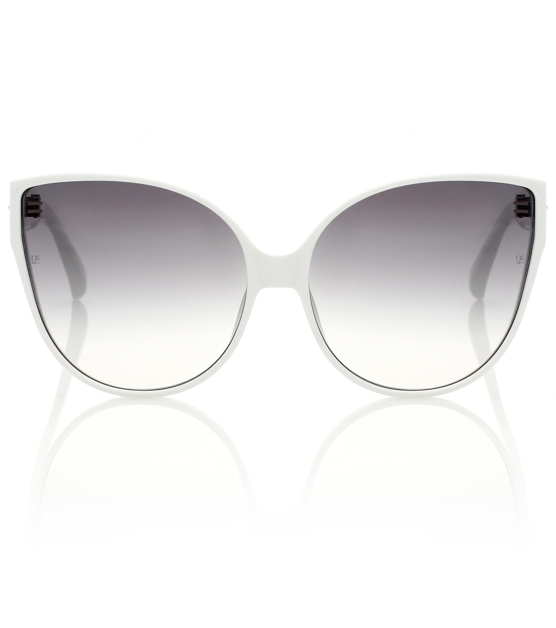 650c85aa9d5 Lyst - Linda Farrow 656 C12 Cat-eye Sunglasses in White
