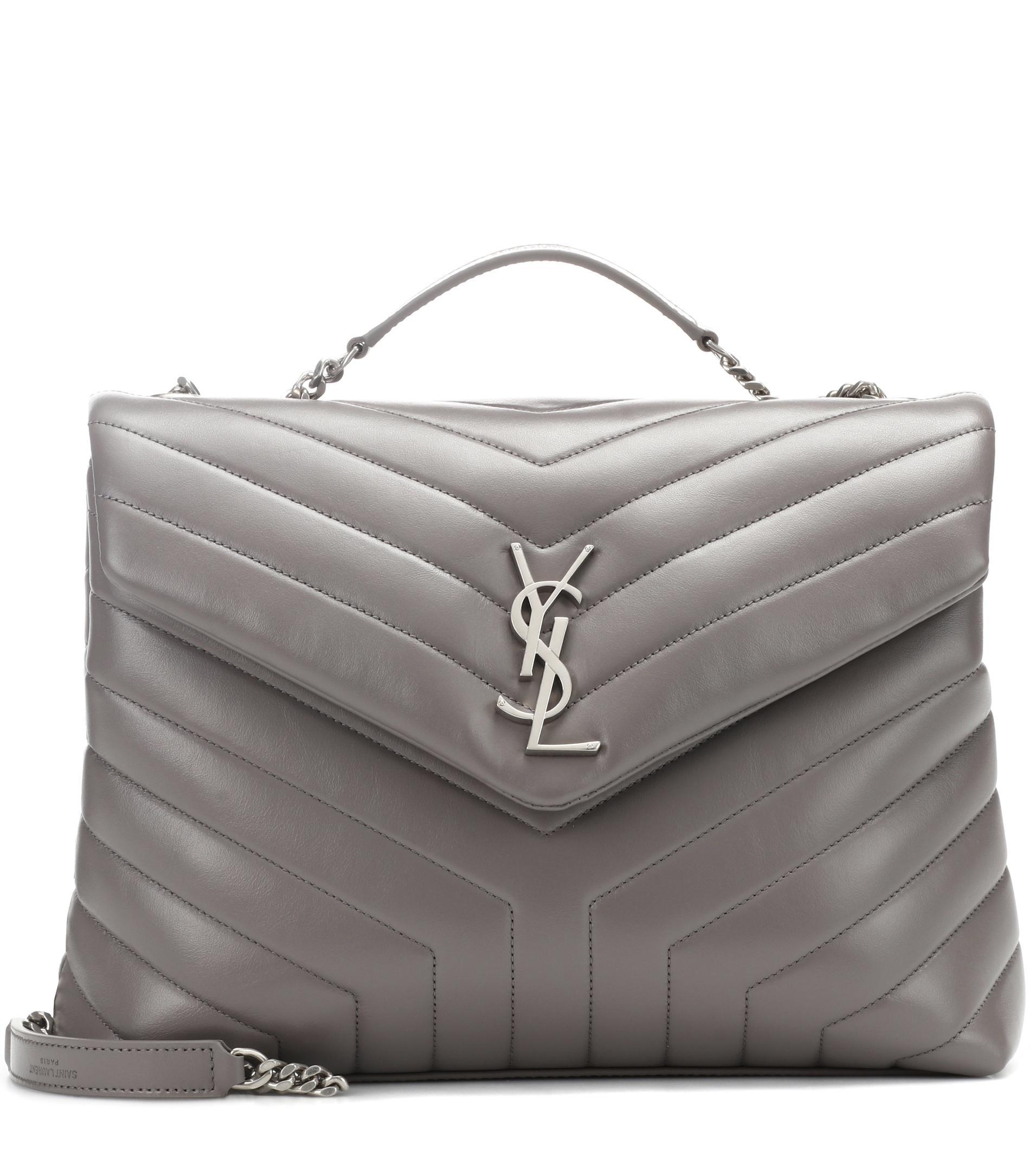 5369f5c781 Lyst - Saint Laurent Medium Loulou Monogram Shoulder Bag in Gray