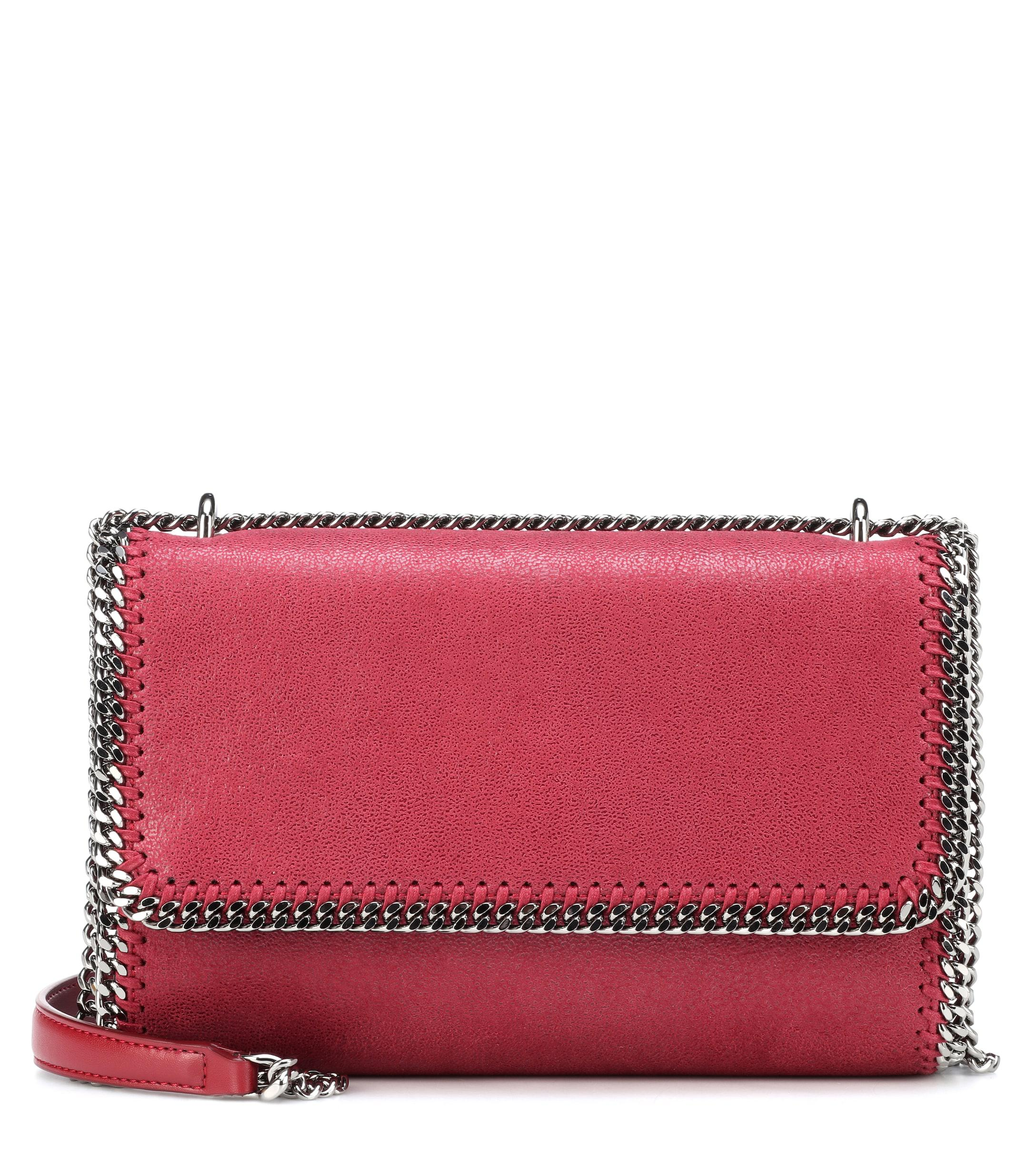 Lyst - Stella Mccartney Falabella Shaggy Deer Shoulder Bag in Red 37e638e34b