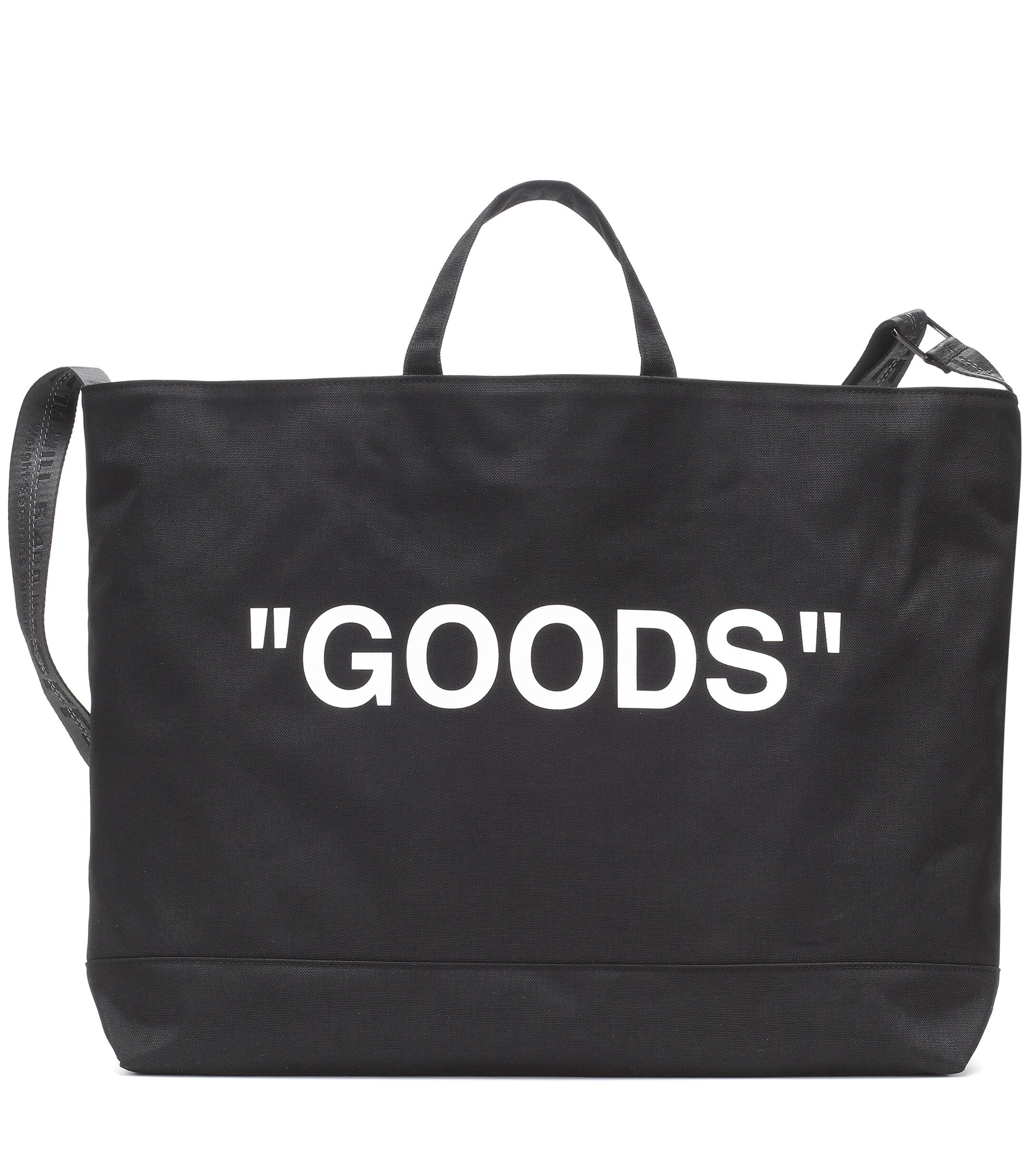 f4f4eb601 Off-White c/o Virgil Abloh Printed Nylon Tote in Black - Lyst