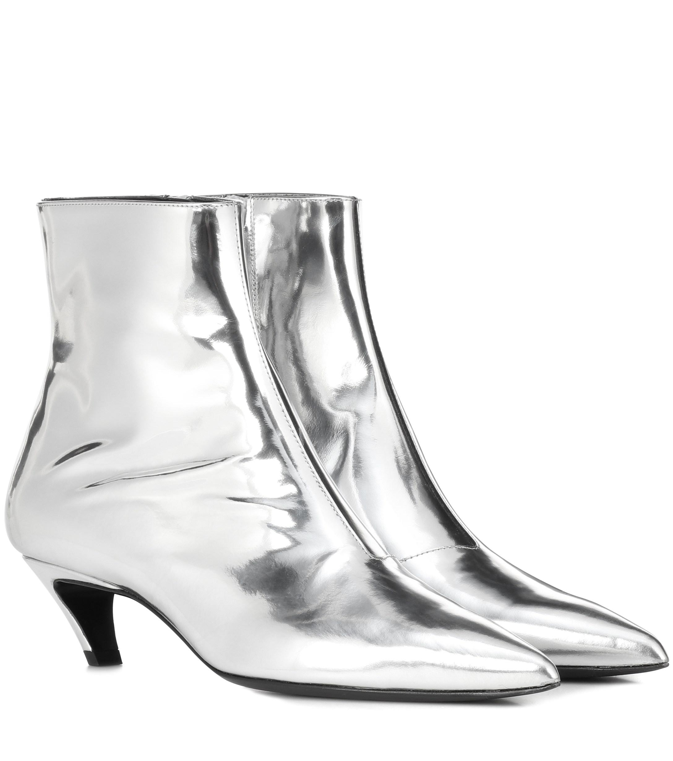 52971fc83749 Balenciaga. Women s Metallic Leather Ankle Boots
