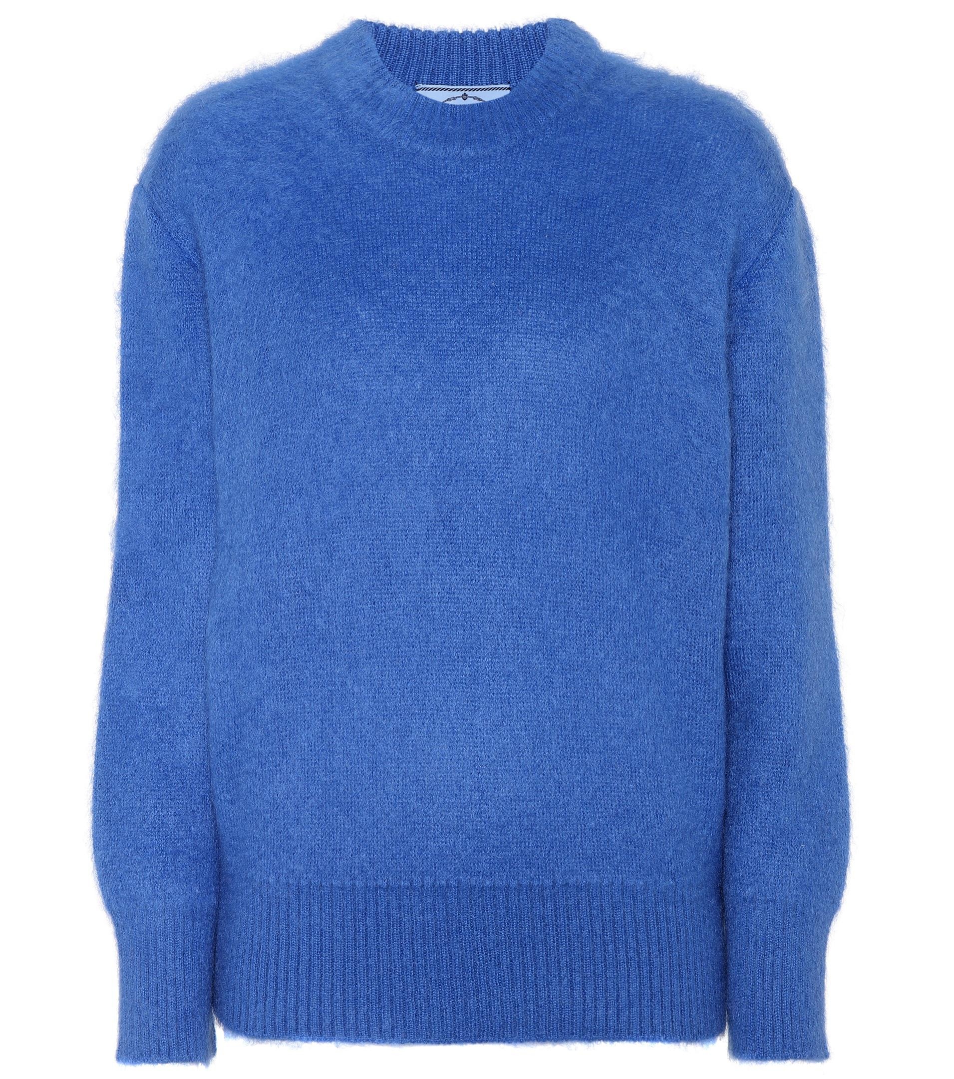 Womens Striped Mohair-Blend Sweater Prada Official Sale Online Outlet Release Dates Buy Cheap Factory Outlet jFjein