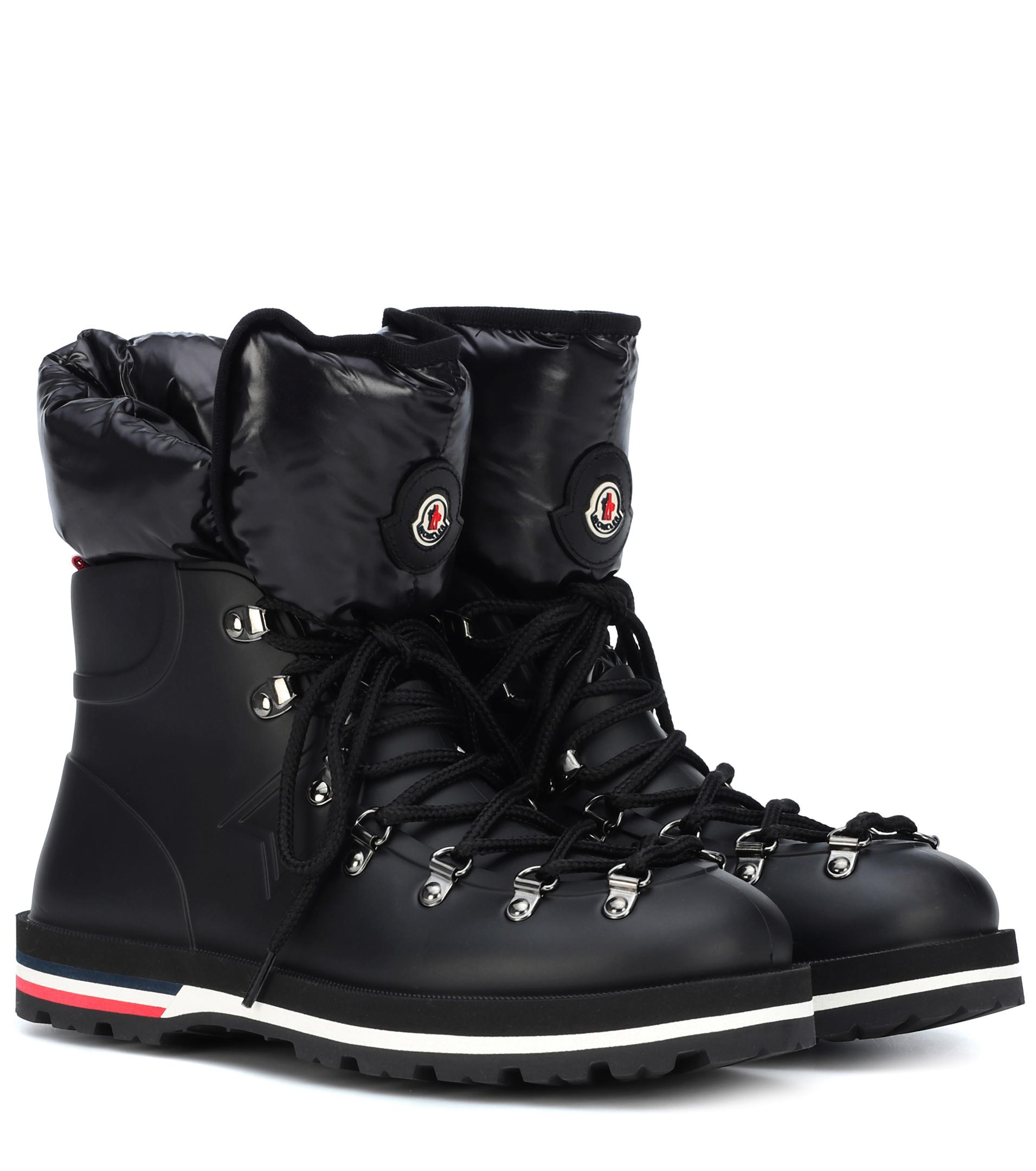 c019f5439 Moncler Inaya Rubber Boots in Black - Lyst