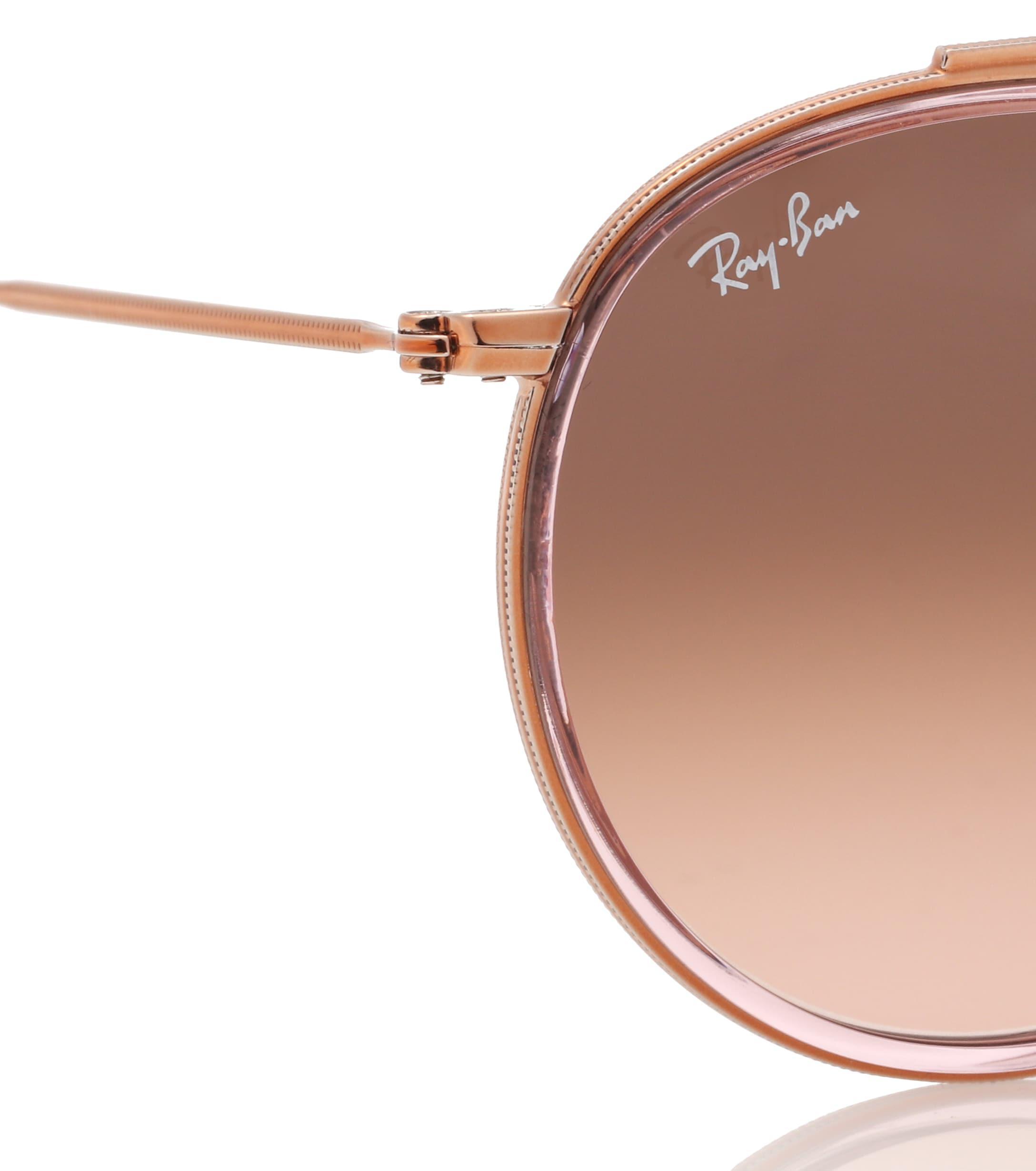 95910b321d4 Ray-Ban - Pink Round Double Bridge Sunglasses - Lyst. View fullscreen