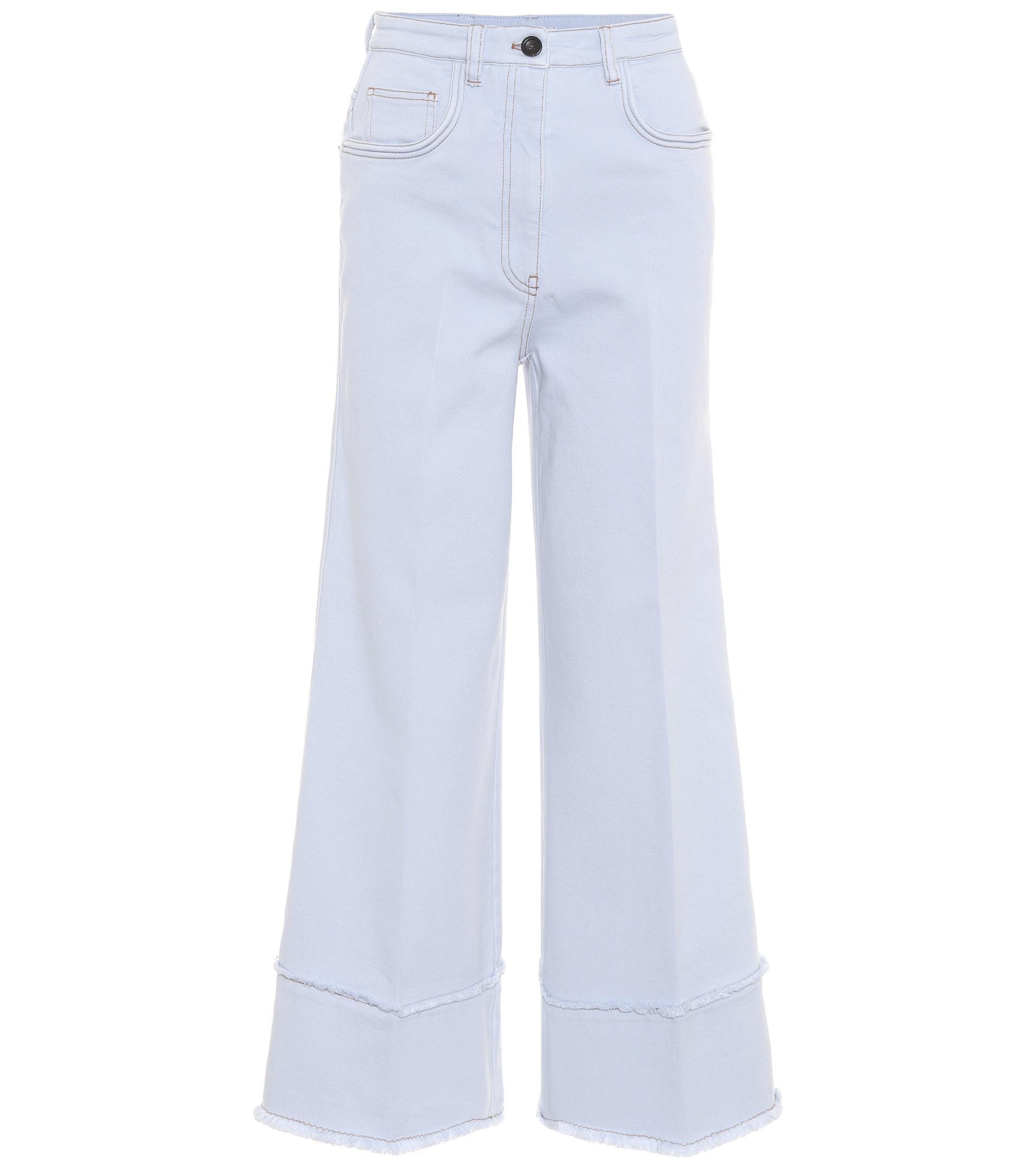 wide-leg denim trousers - Blue Miu Miu cg1iOEl