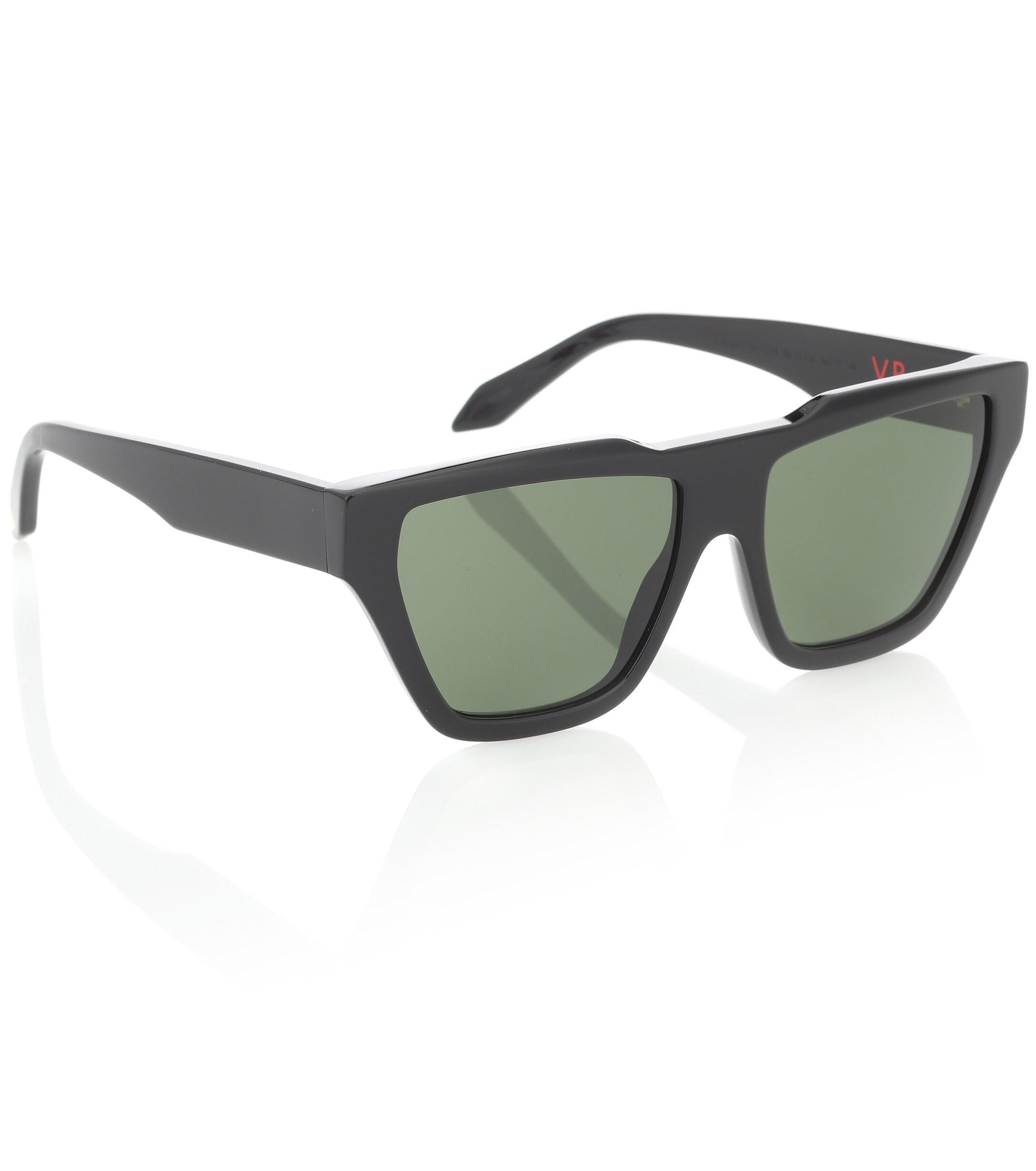 fed1875d30 Victoria Beckham Square Cat-eye Sunglasses in Black - Lyst