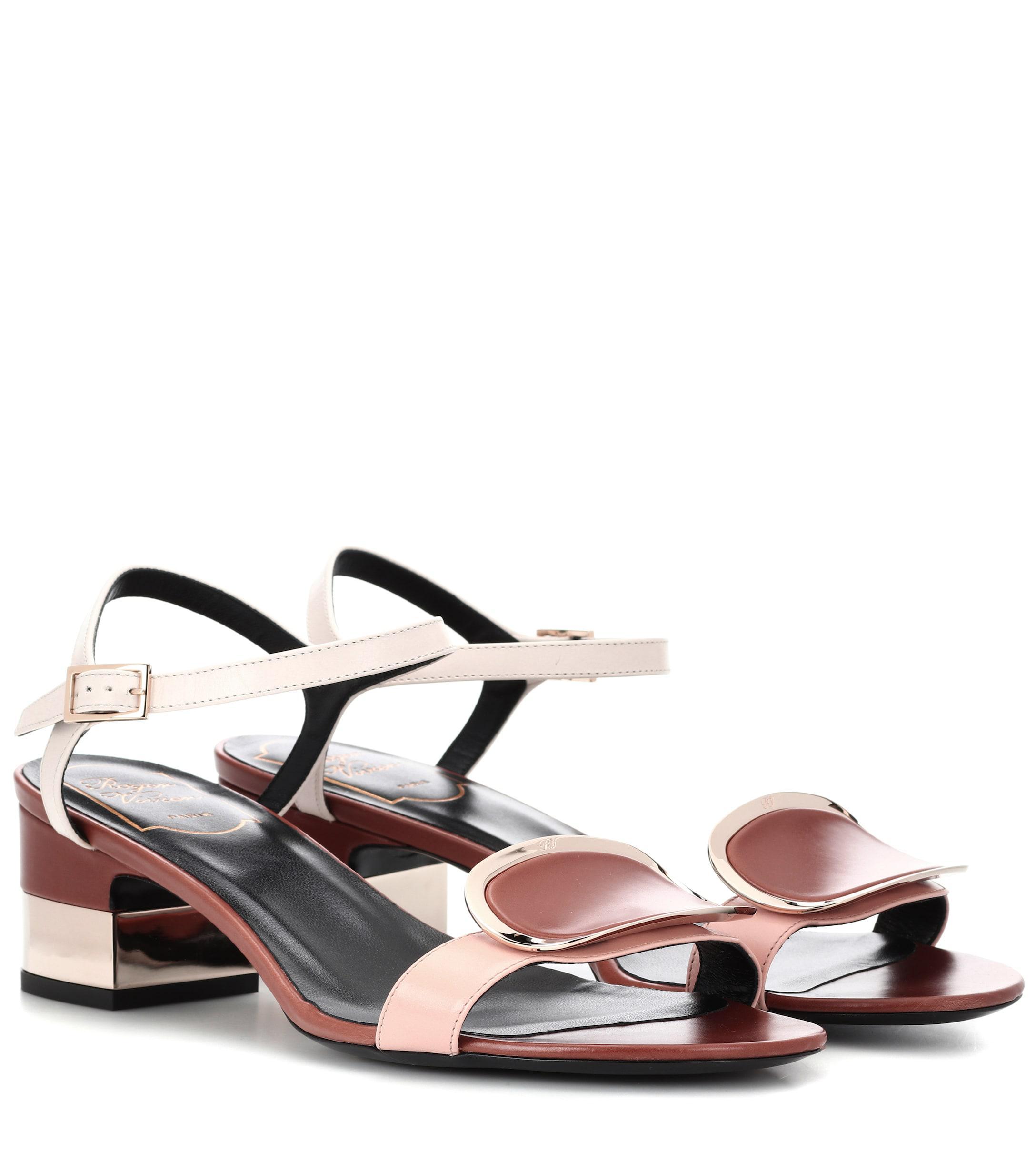 edc6d4c762ee Roger Vivier. Women s Chips West Buckle Leather Sandals