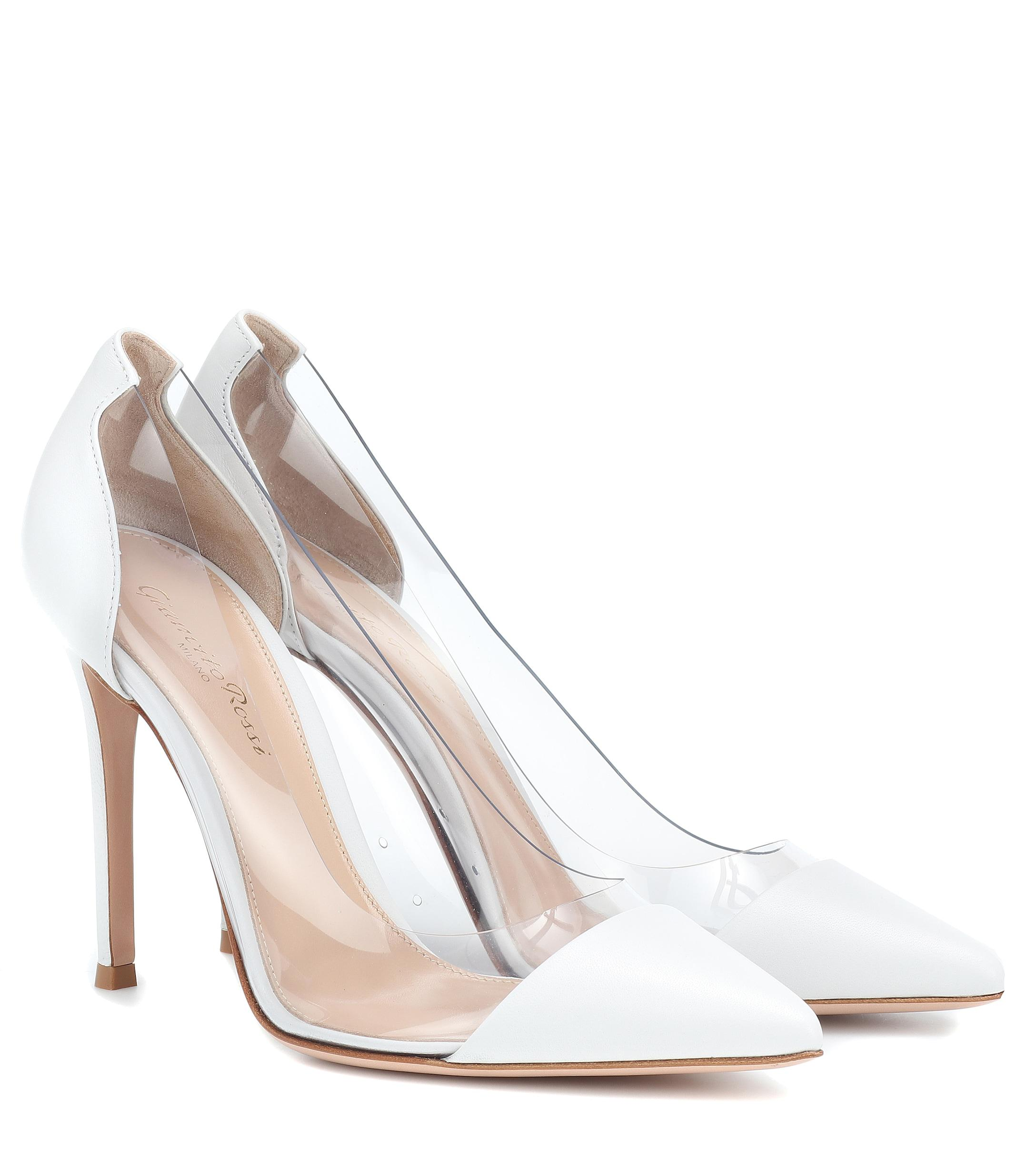 880b9216bf5 Gianvito Rossi - Plexi 105 White Leather And Perspex Pumps - Lyst. View  fullscreen