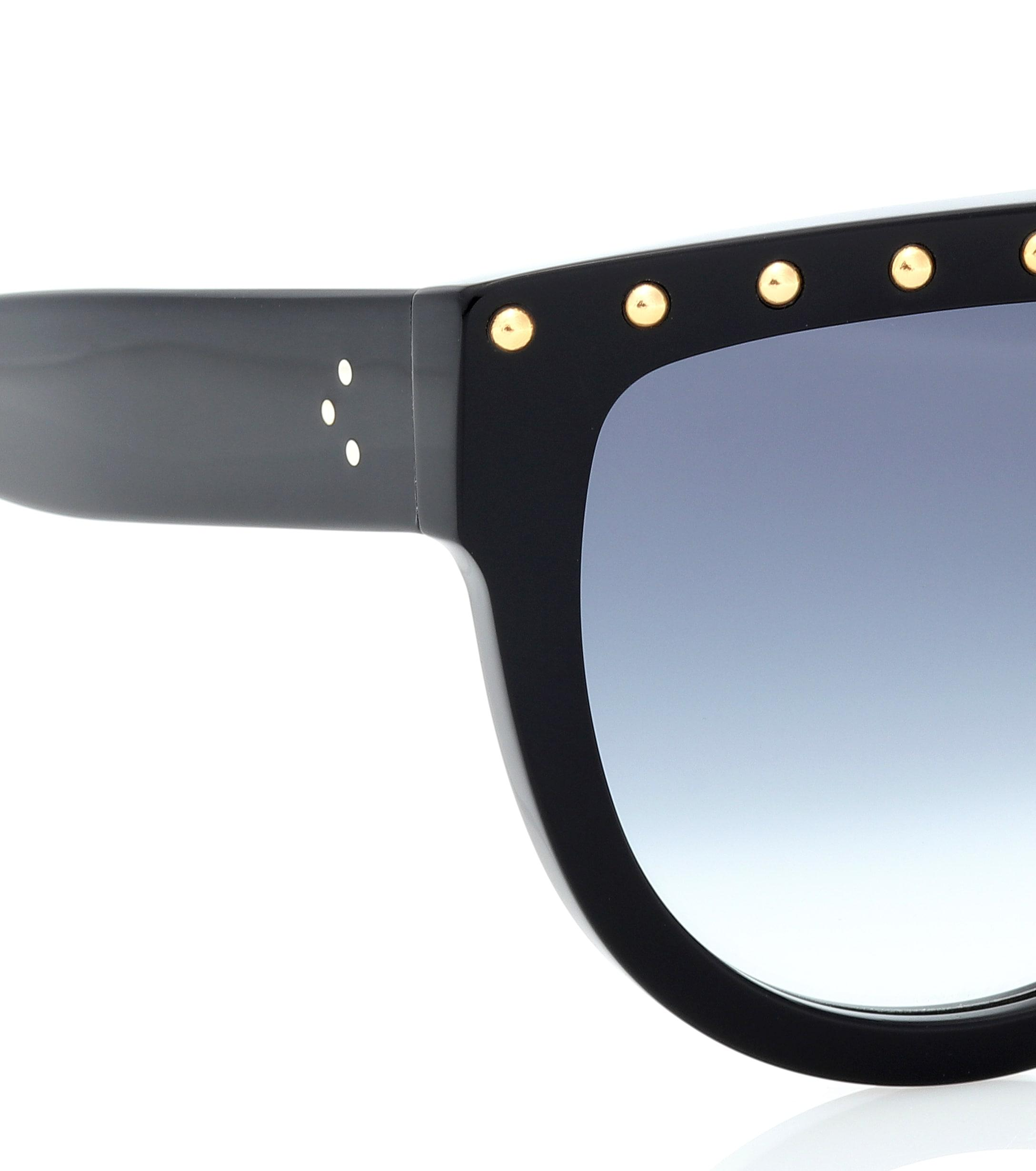 74a195530da5 Céline - Black Embellished Sunglasses - Lyst. View fullscreen