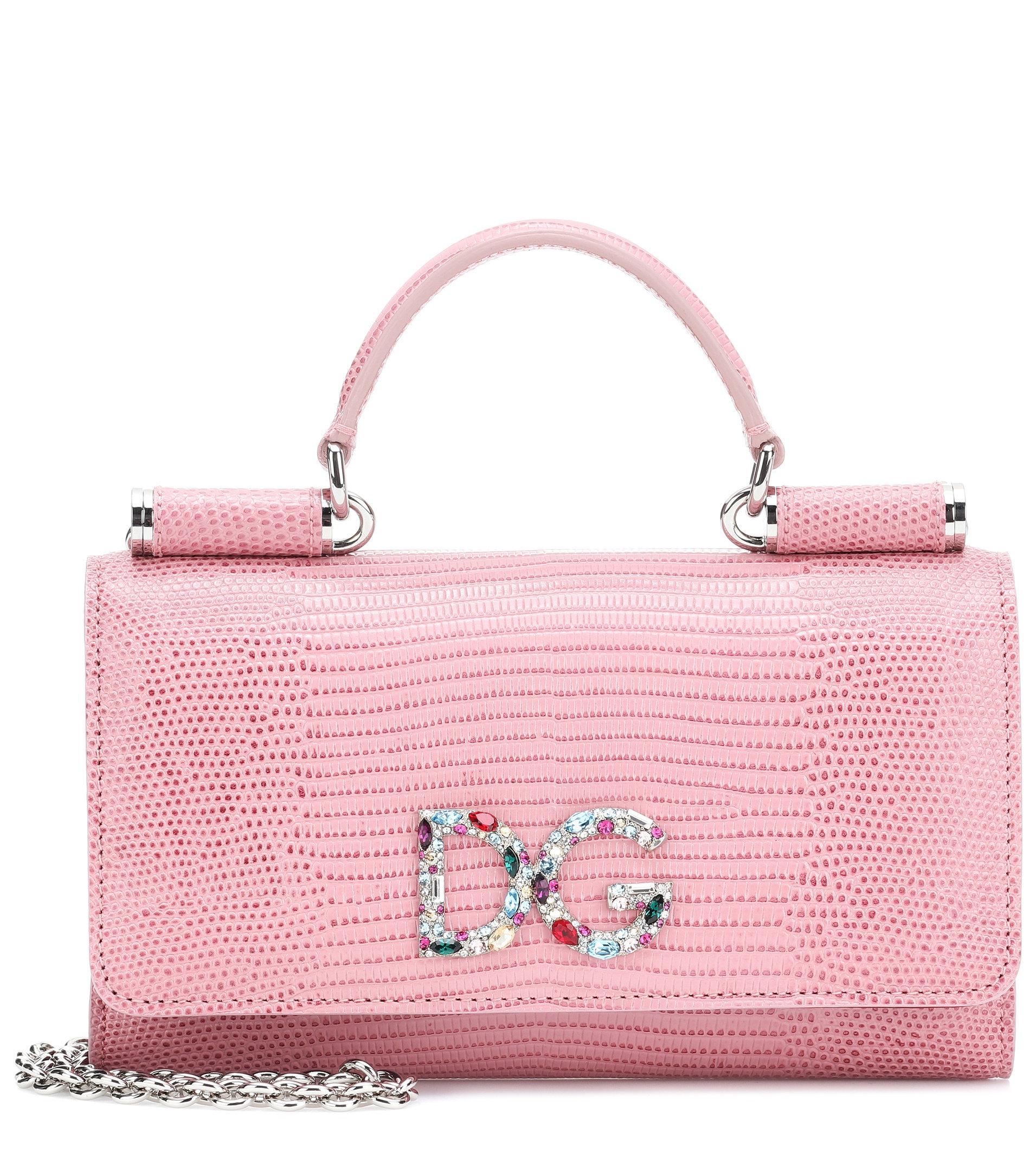 d44f5af19c Lyst - Dolce   Gabbana Sicily Von Bag Leather Smartphone Shoulder ...