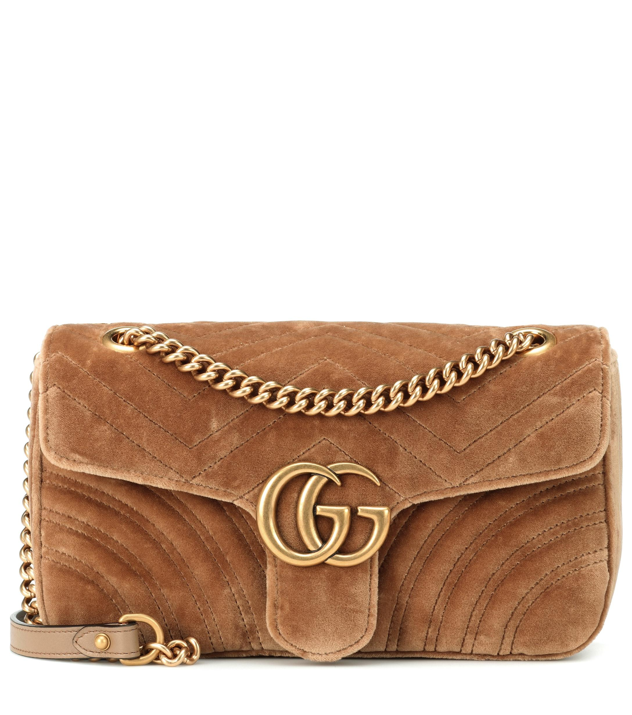 d89d4e8613d Gucci GG Marmont Small Shoulder Bag in Brown - Lyst