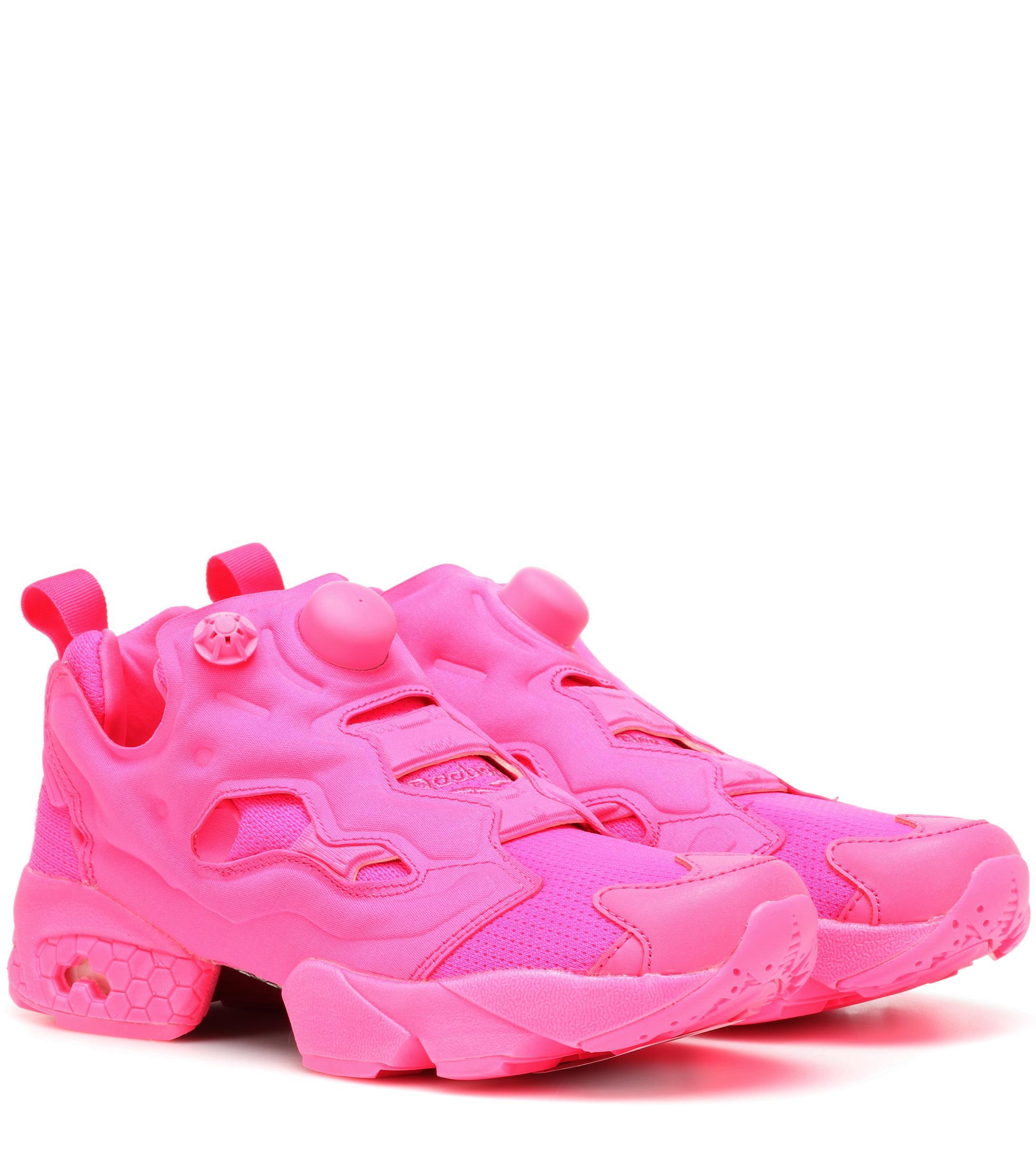 ae56e6a3860 Vetements X Reebok Instapump Fury Sneakers in Pink - Lyst