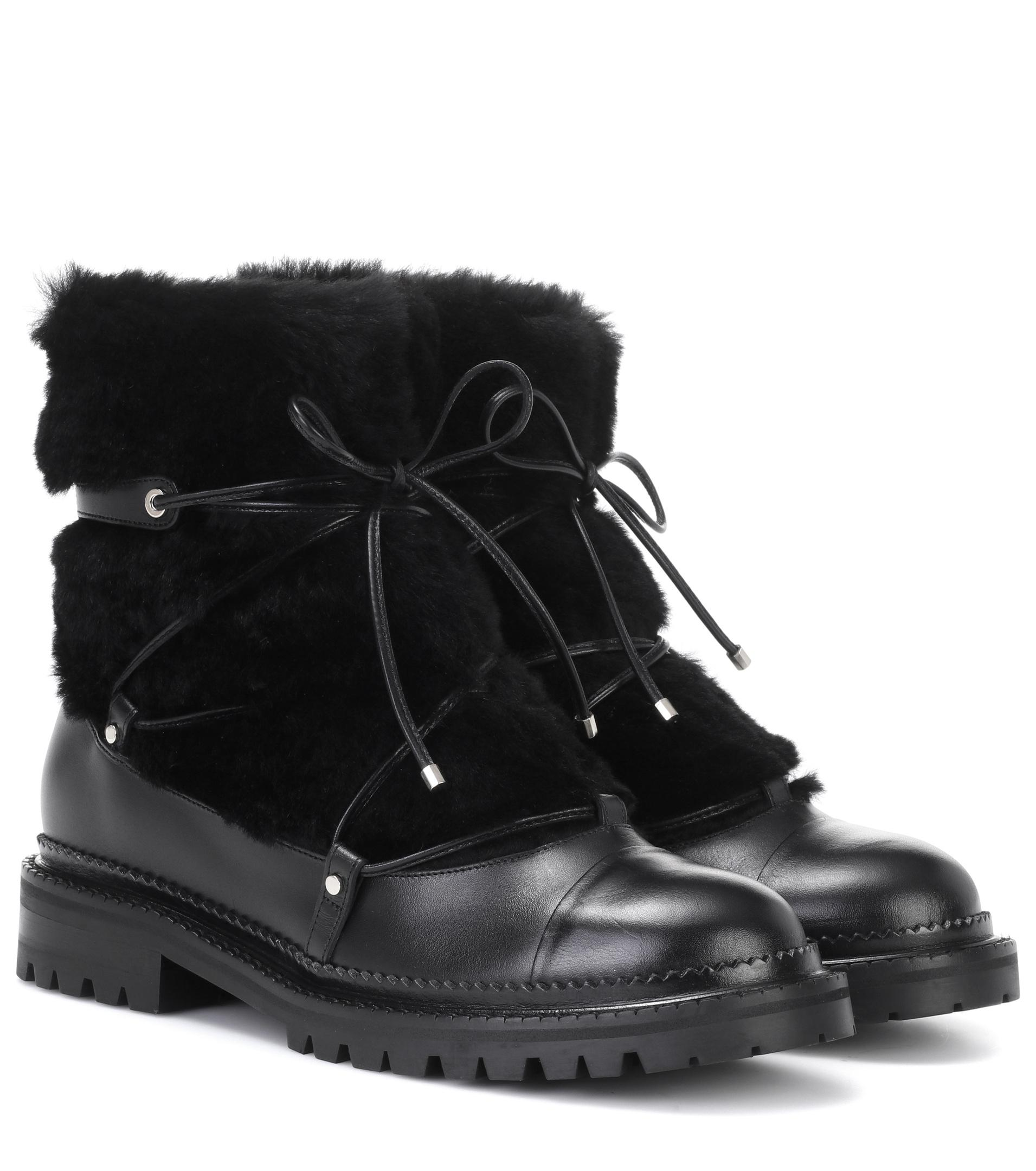 Sophia Webster Black Shearling Darcie Boots