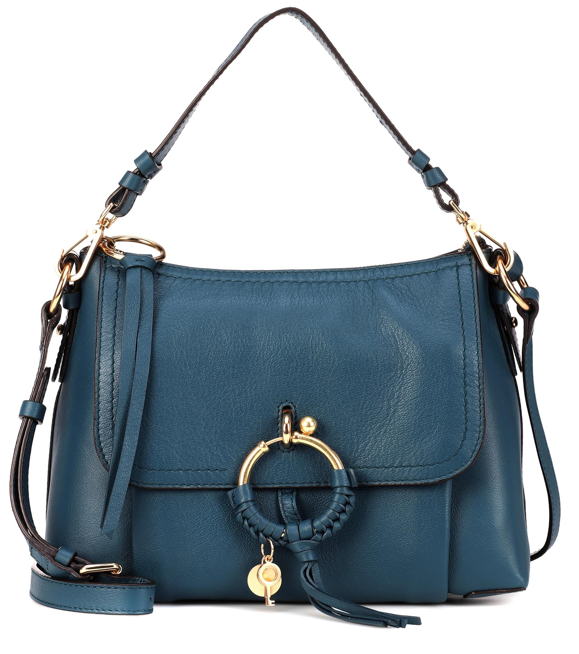 Lyst - See By Chloé Small Joan Leather Crossbody Bag in Blue 12144b77ad0a6