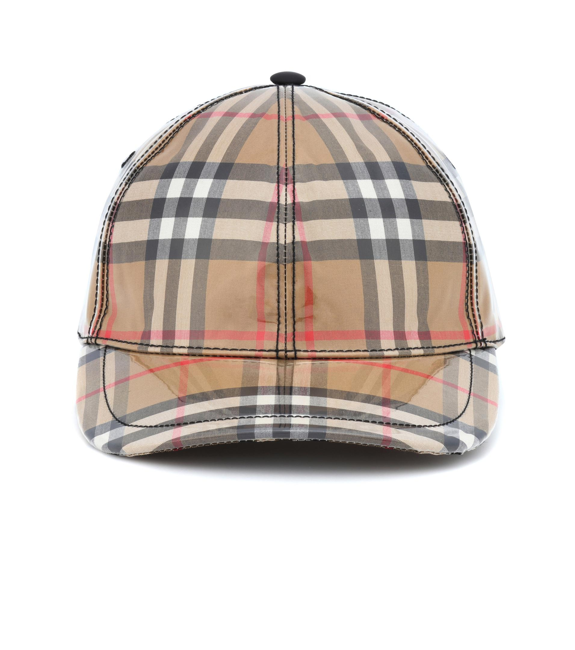 47179d3e Burberry Coated Checked Baseball Hat in Natural - Lyst